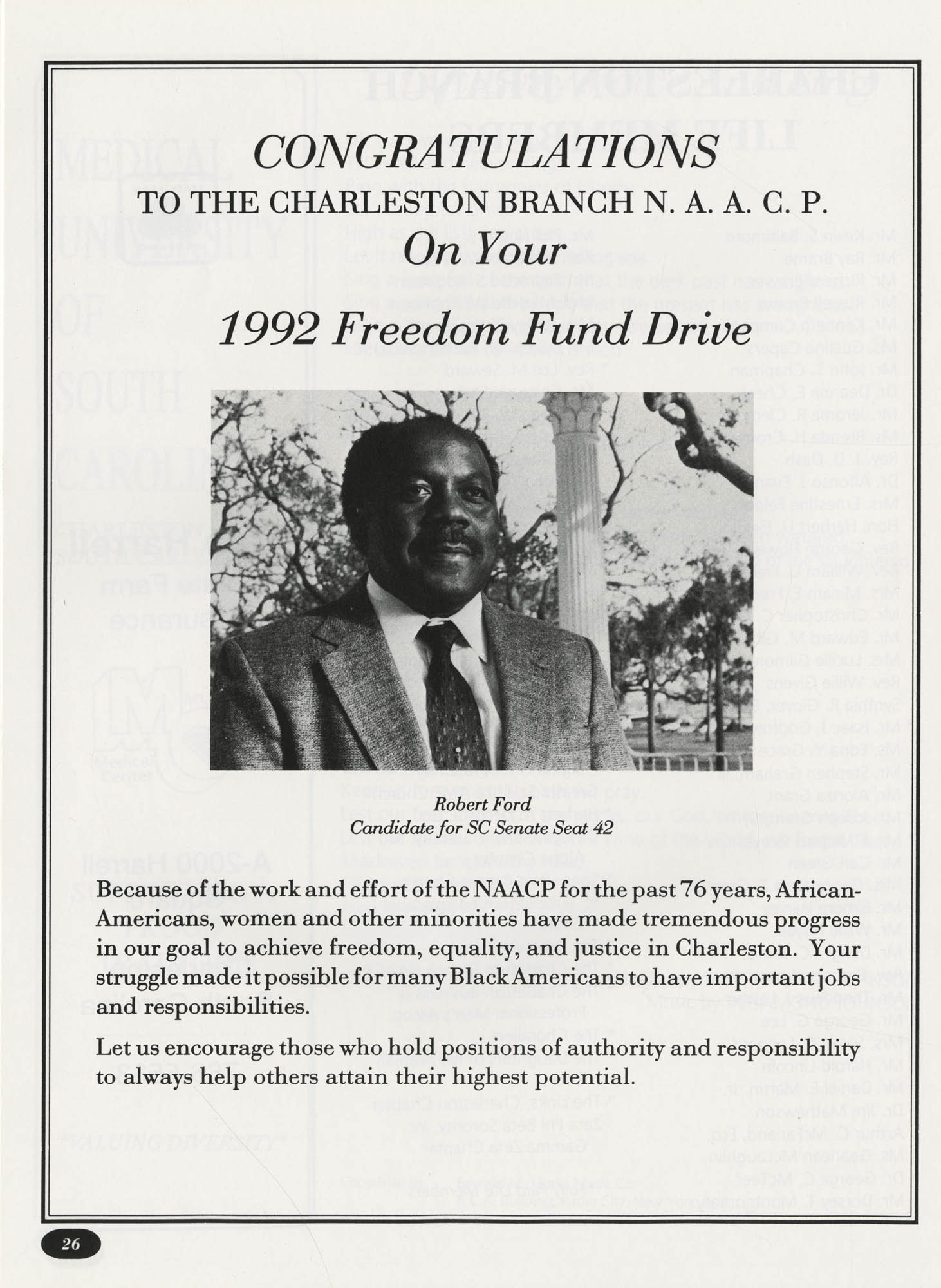 Freedom Fund Magazine, 1992, Page 26