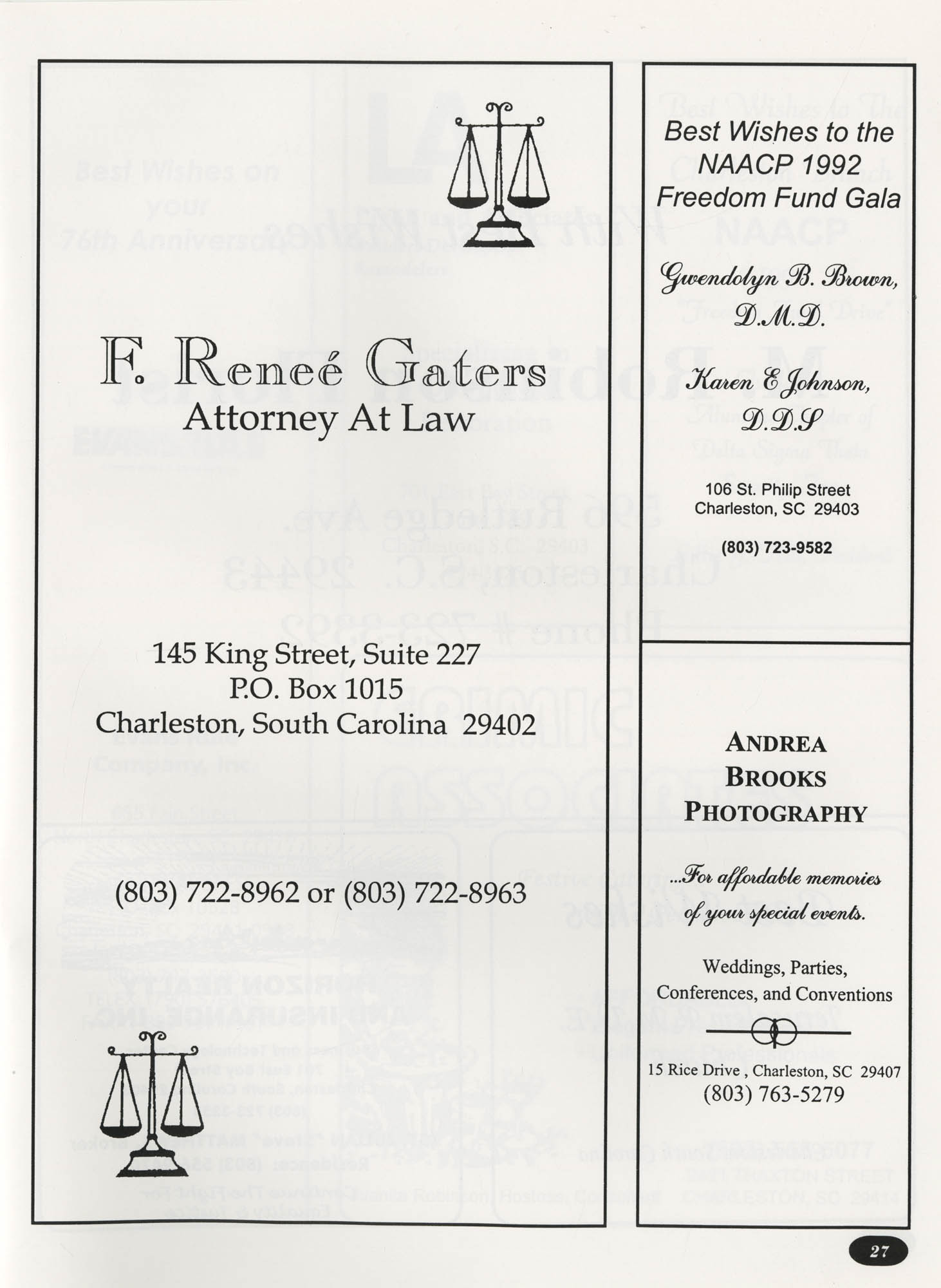 Freedom Fund Magazine, 1992, Page 27