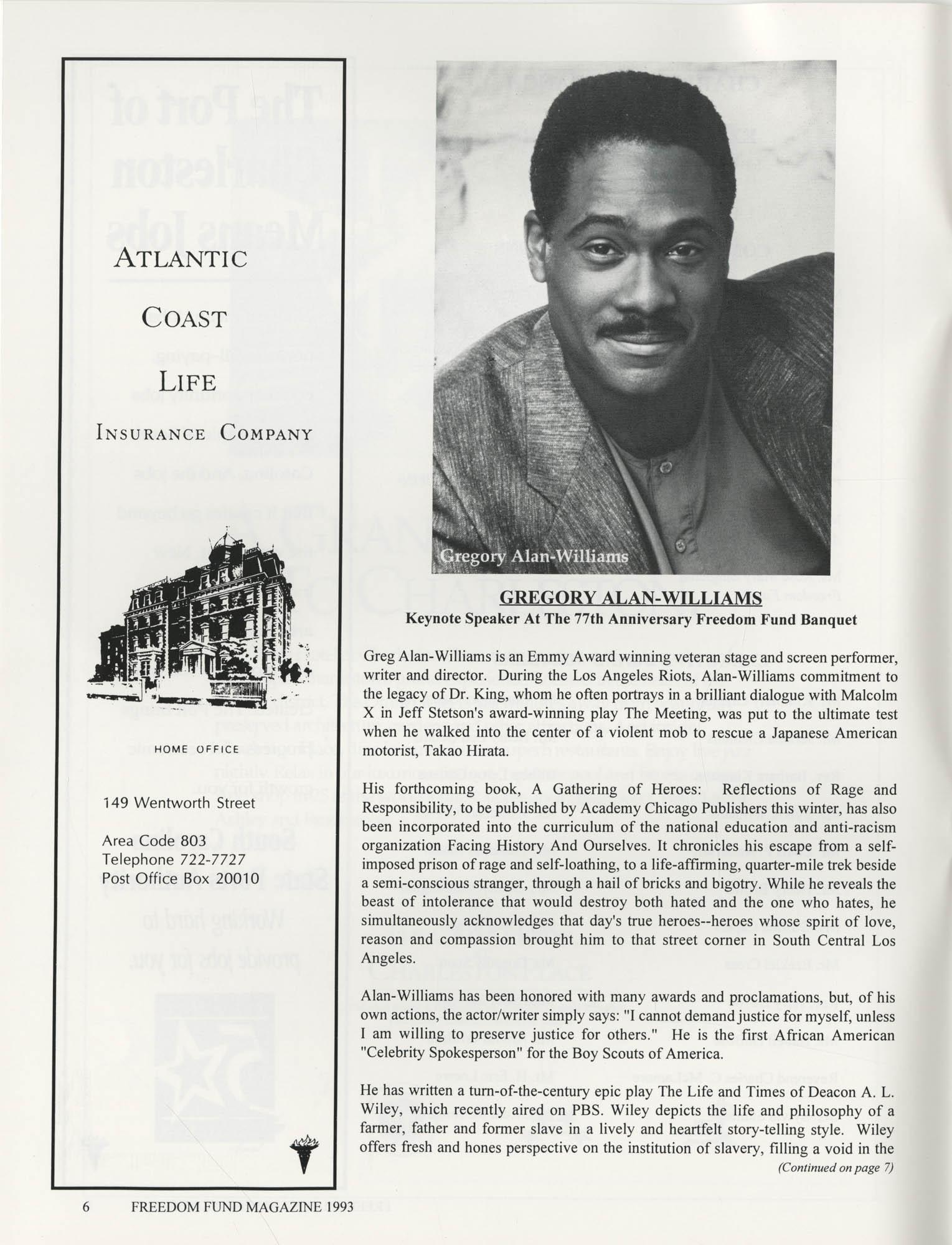 Freedom Fund Magazine, 1993, Page 6