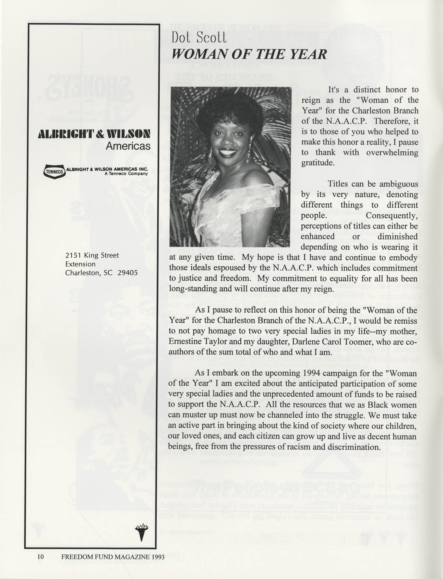 Freedom Fund Magazine, 1993, Page 10