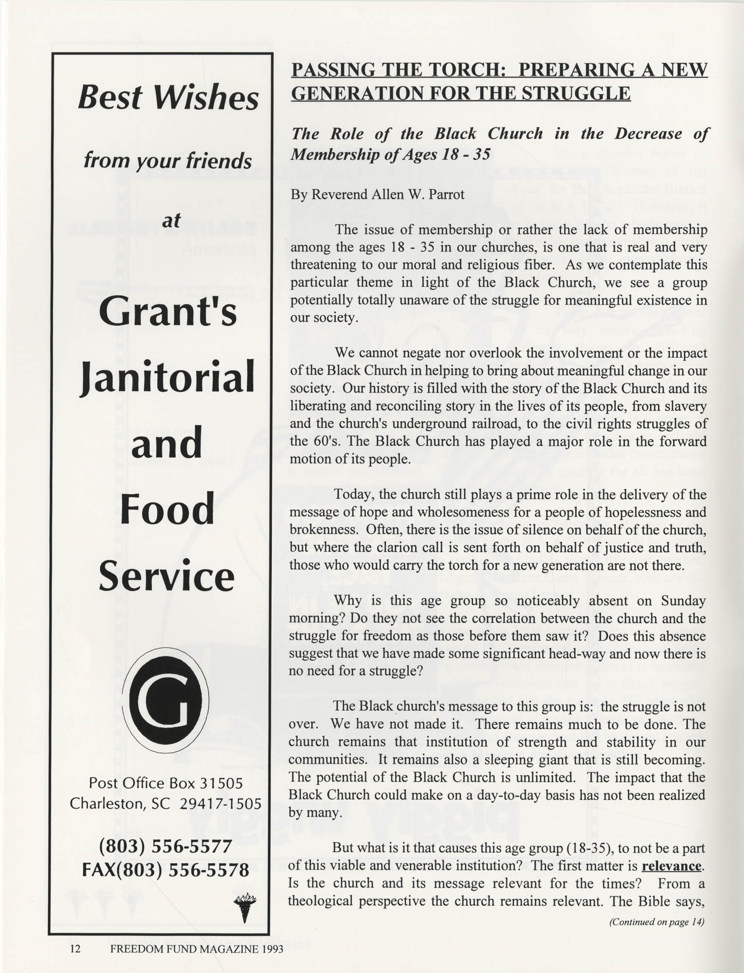 Freedom Fund Magazine, 1993, Page 12