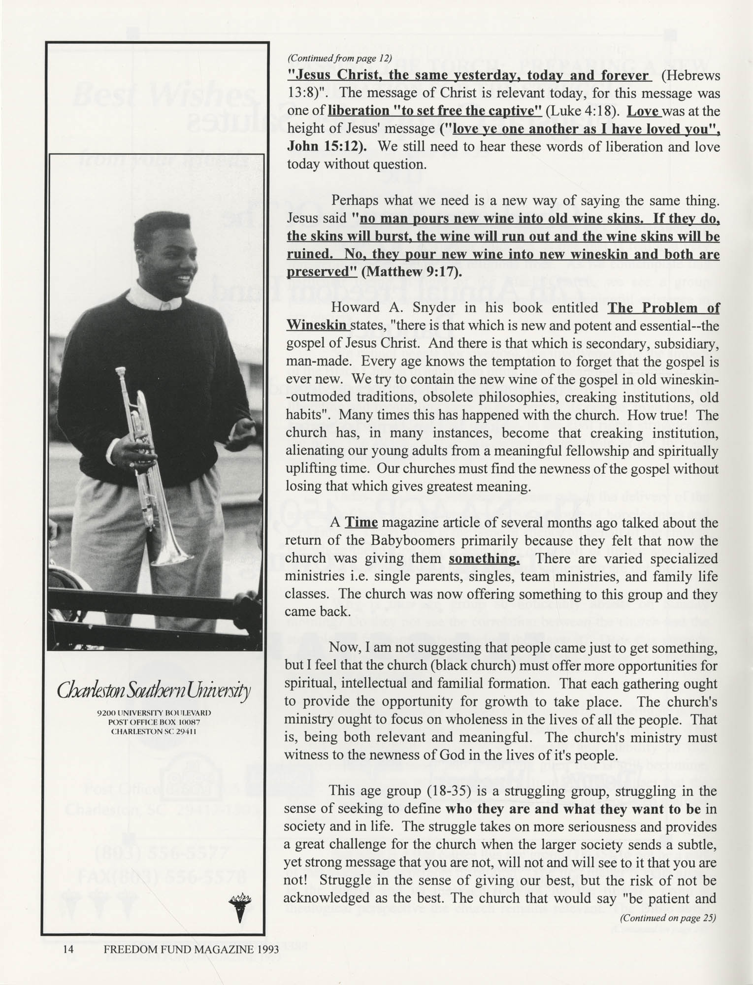Freedom Fund Magazine, 1993, Page 14