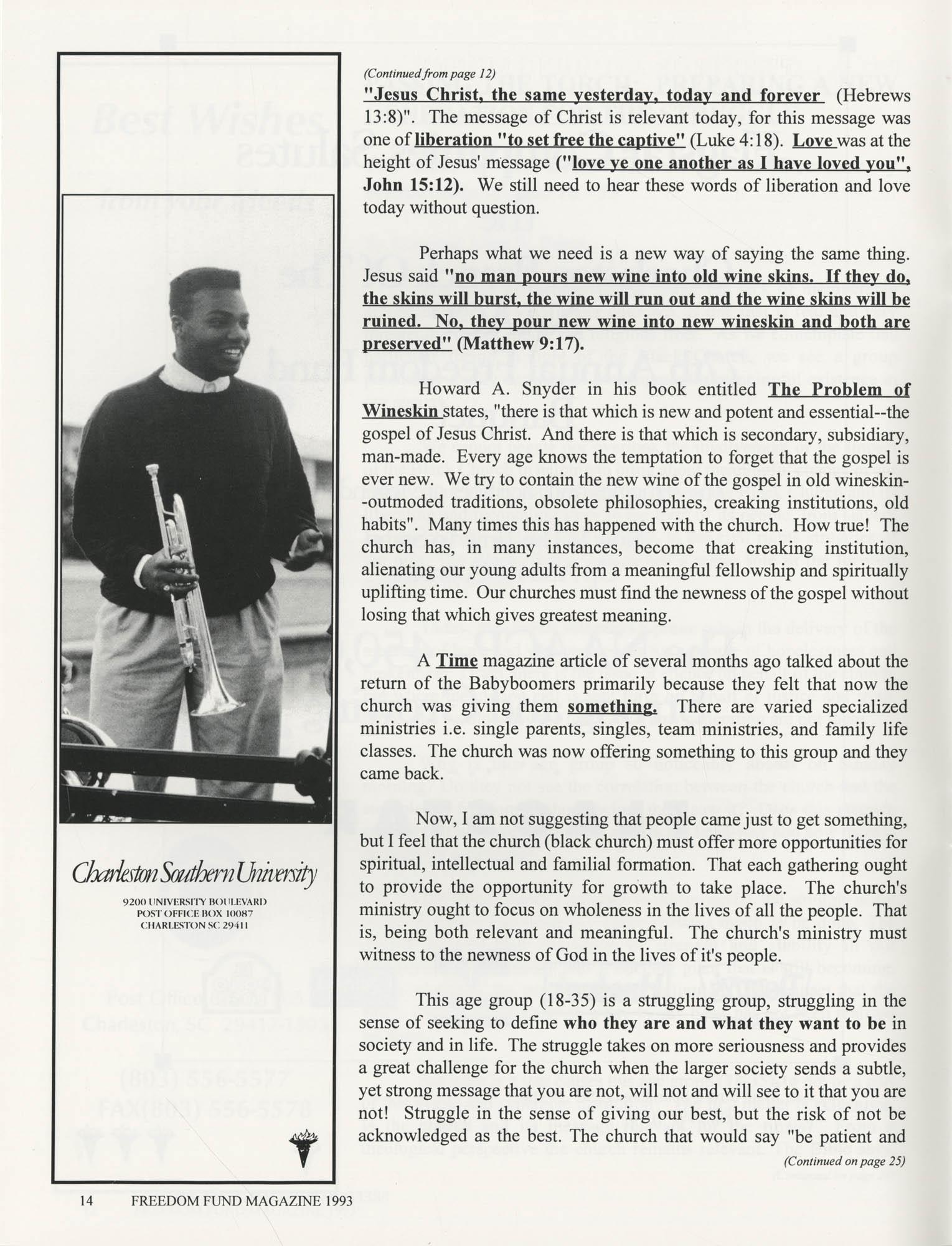 Freedom Fund Magazine, 1993, Page 14