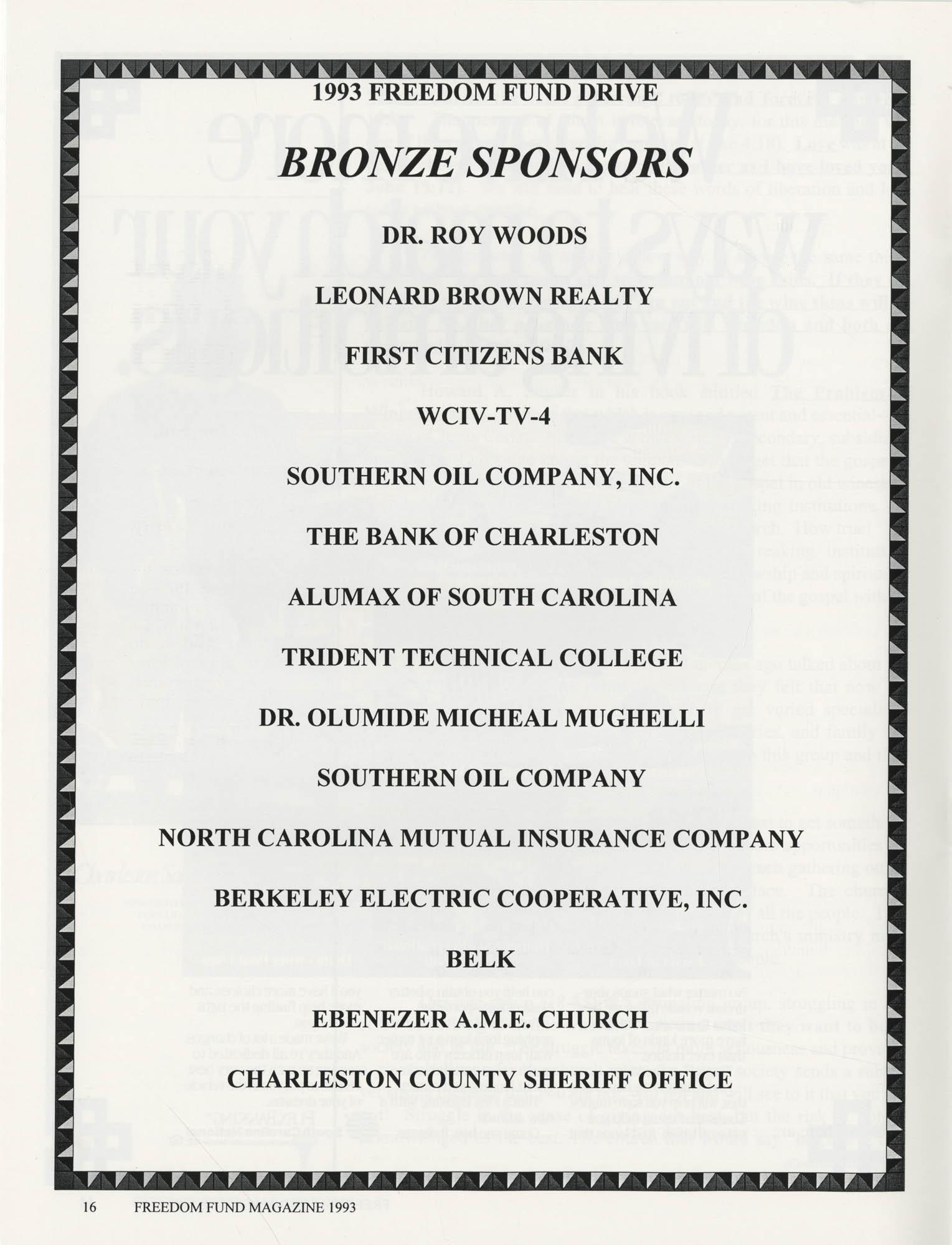 Freedom Fund Magazine, 1993, Page 16