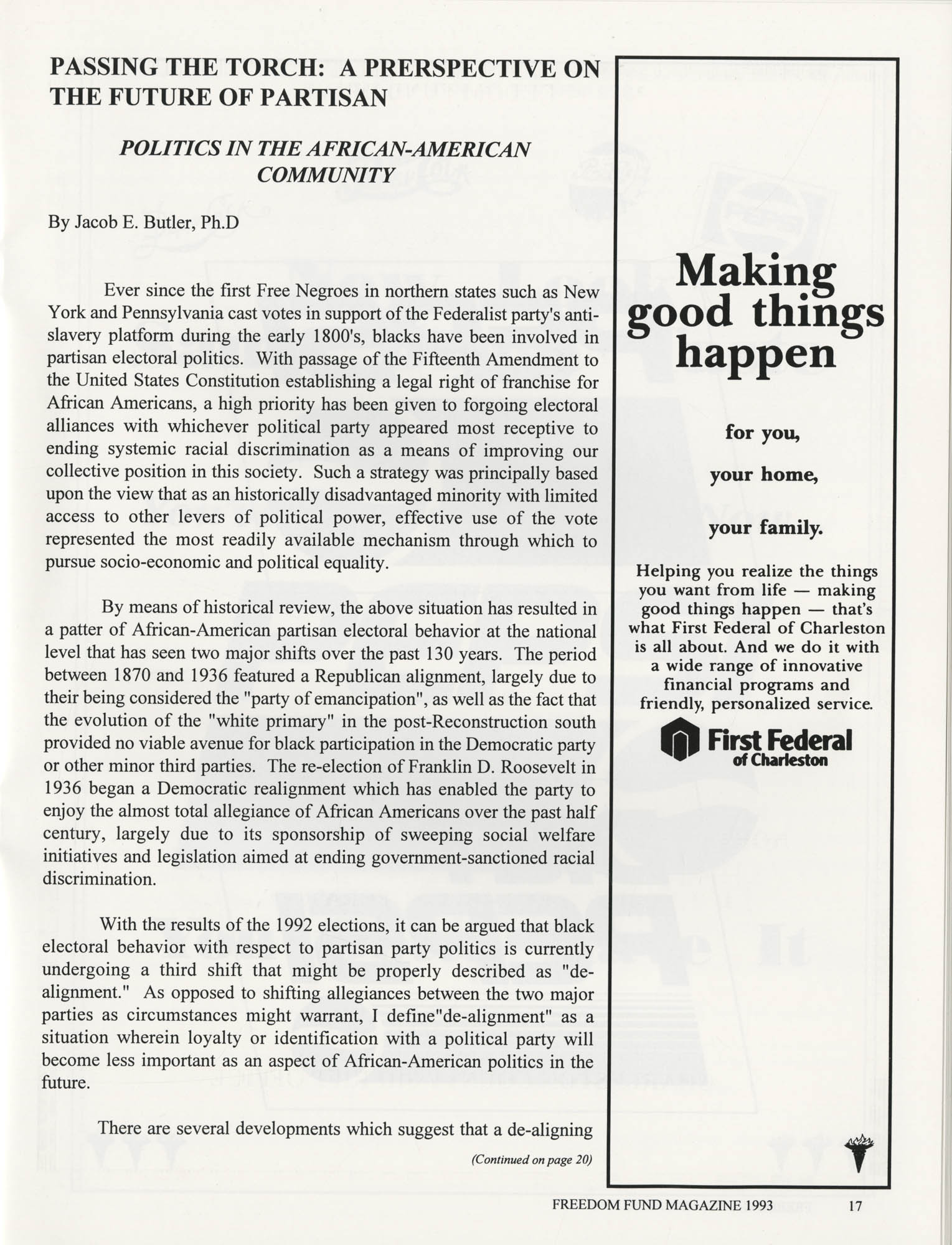 Freedom Fund Magazine, 1993, Page 17