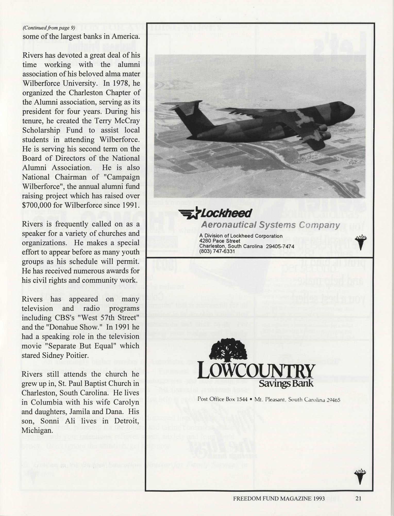Freedom Fund Magazine, 1993, Page 21