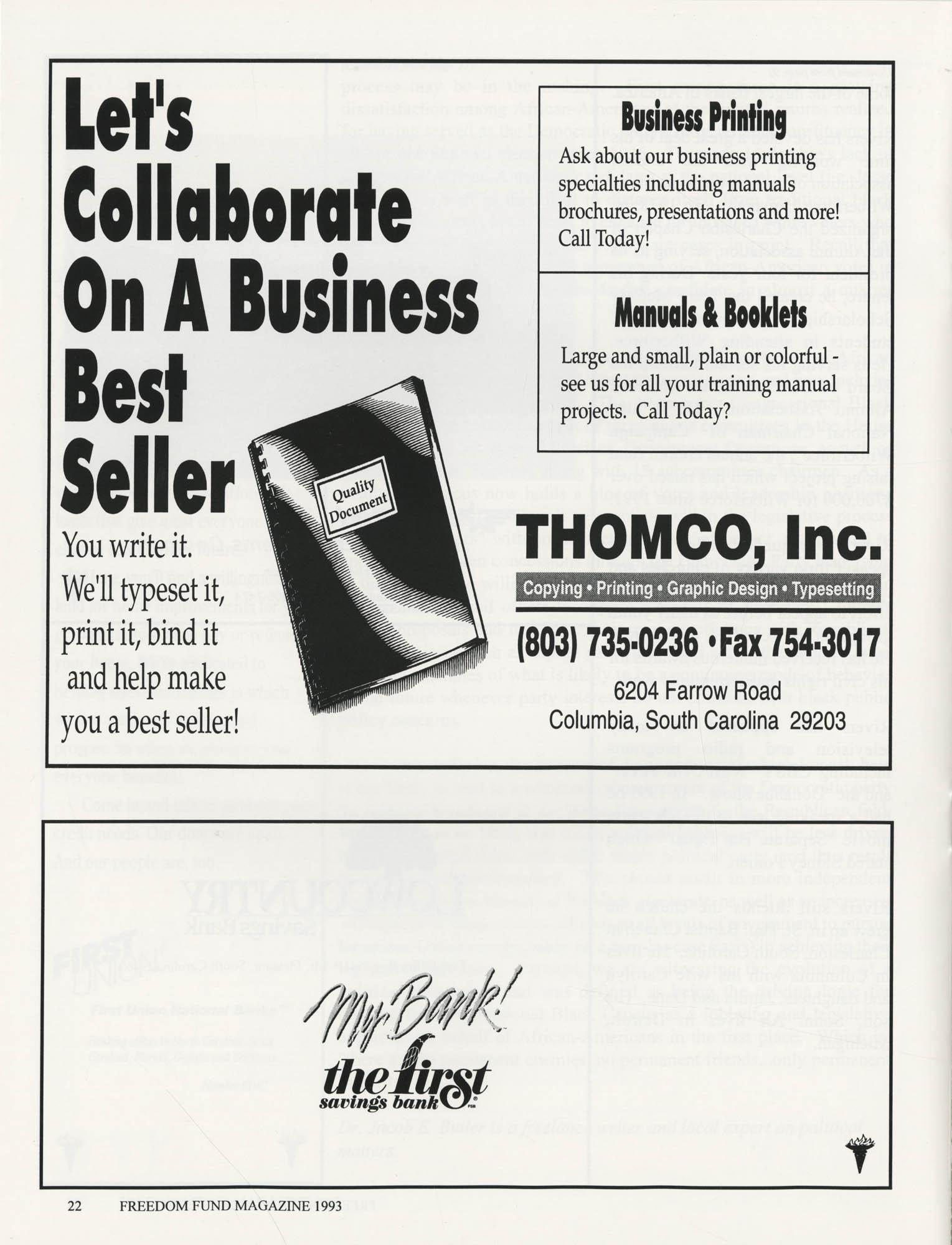 Freedom Fund Magazine, 1993, Page 22