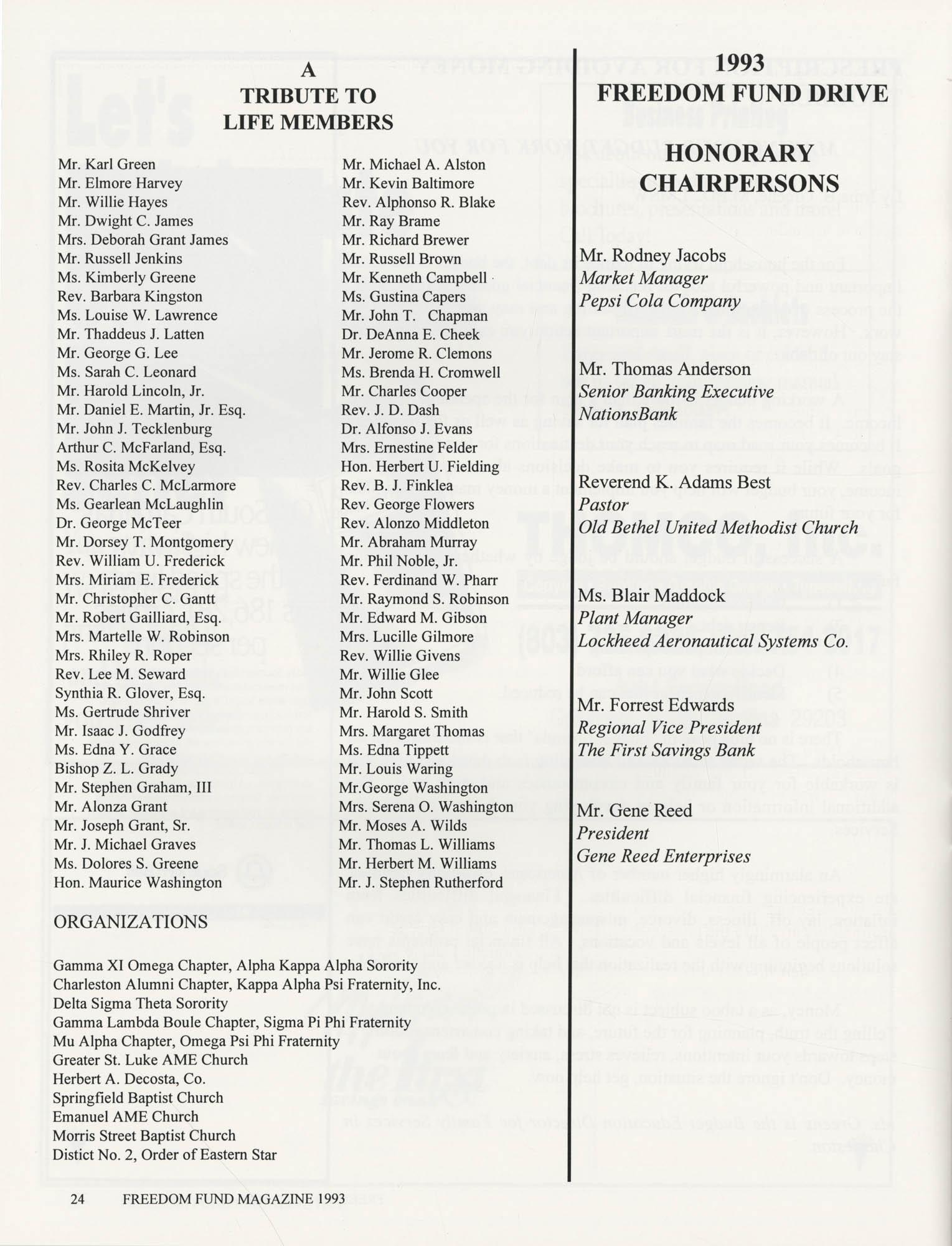 Freedom Fund Magazine, 1993, Page 24
