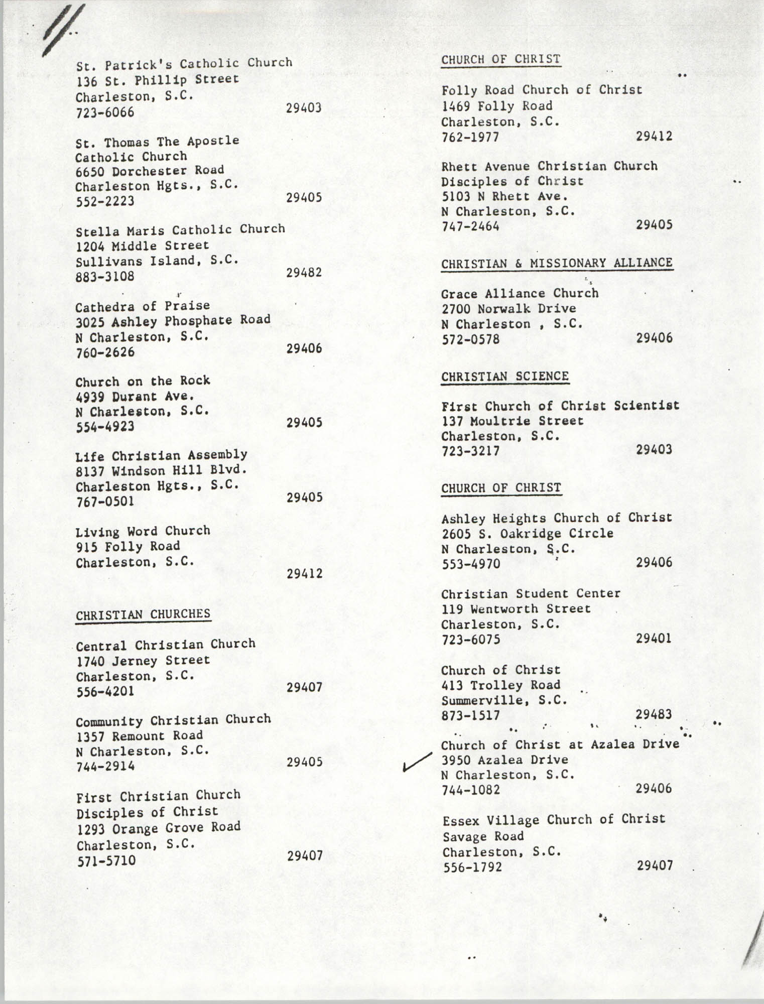 Charleston Area Minister Listing, Page 10