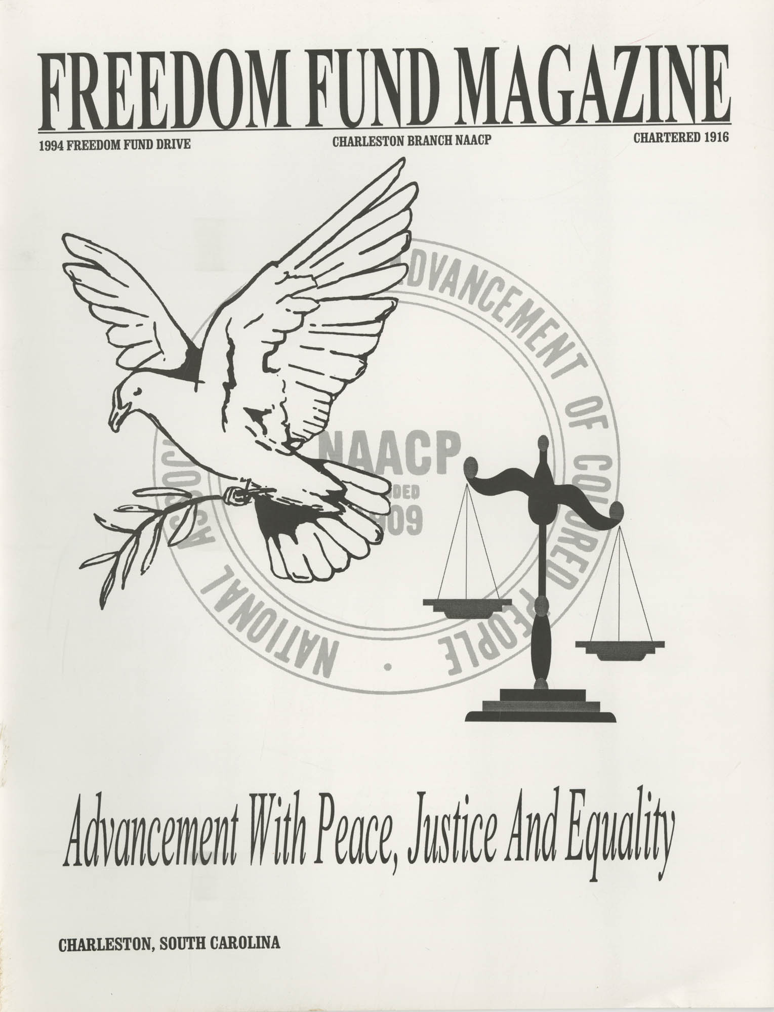 Freedom Fund Magazine, 1994, Front Cover Exterior