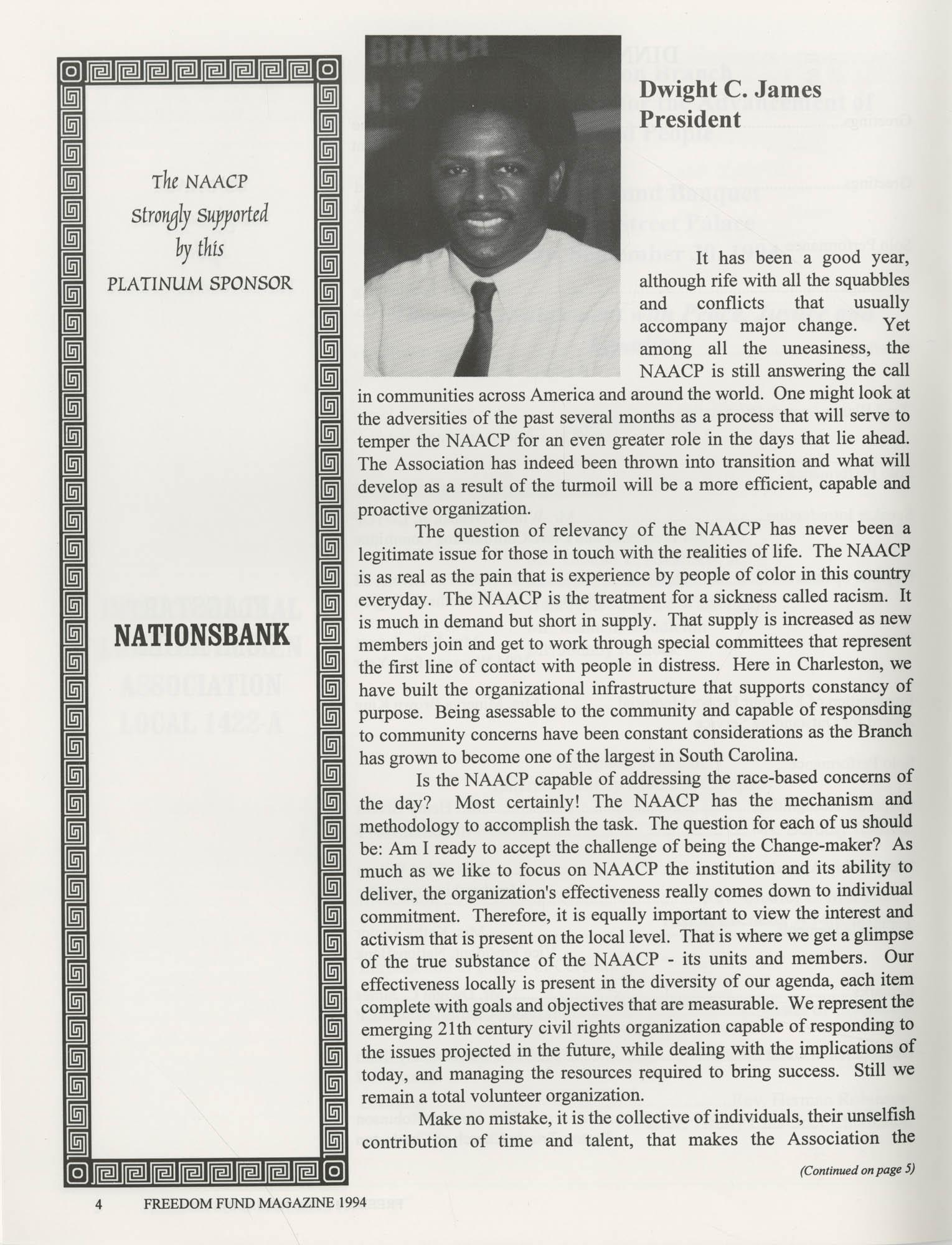 Freedom Fund Magazine, 1994, Page 4