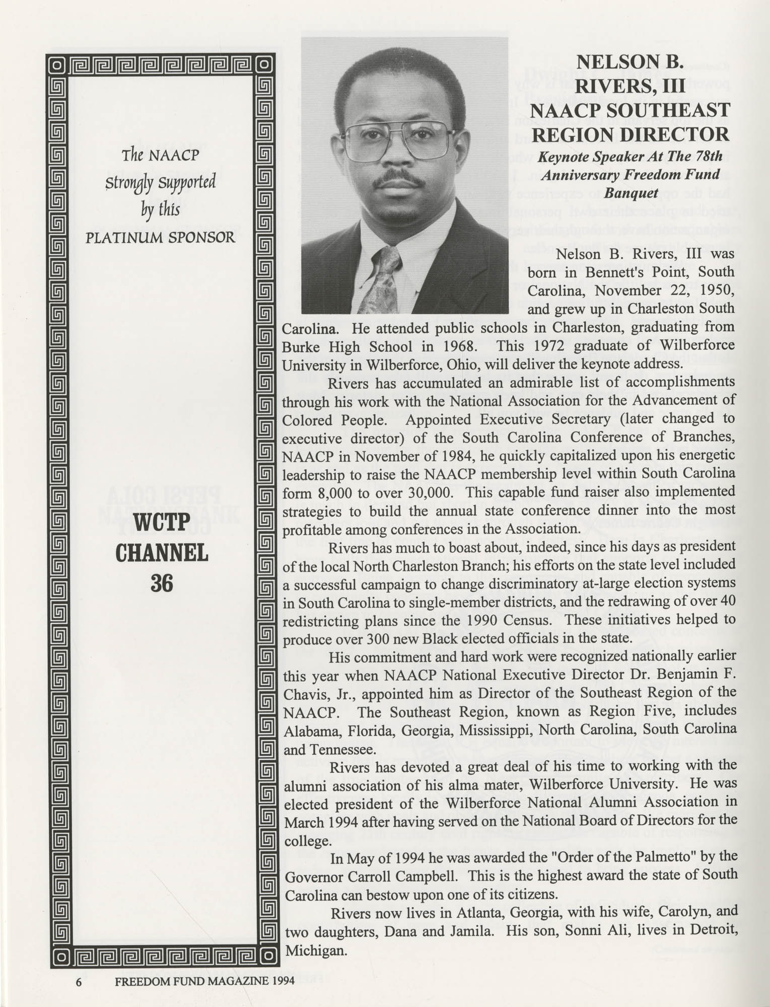 Freedom Fund Magazine, 1994, Page 6