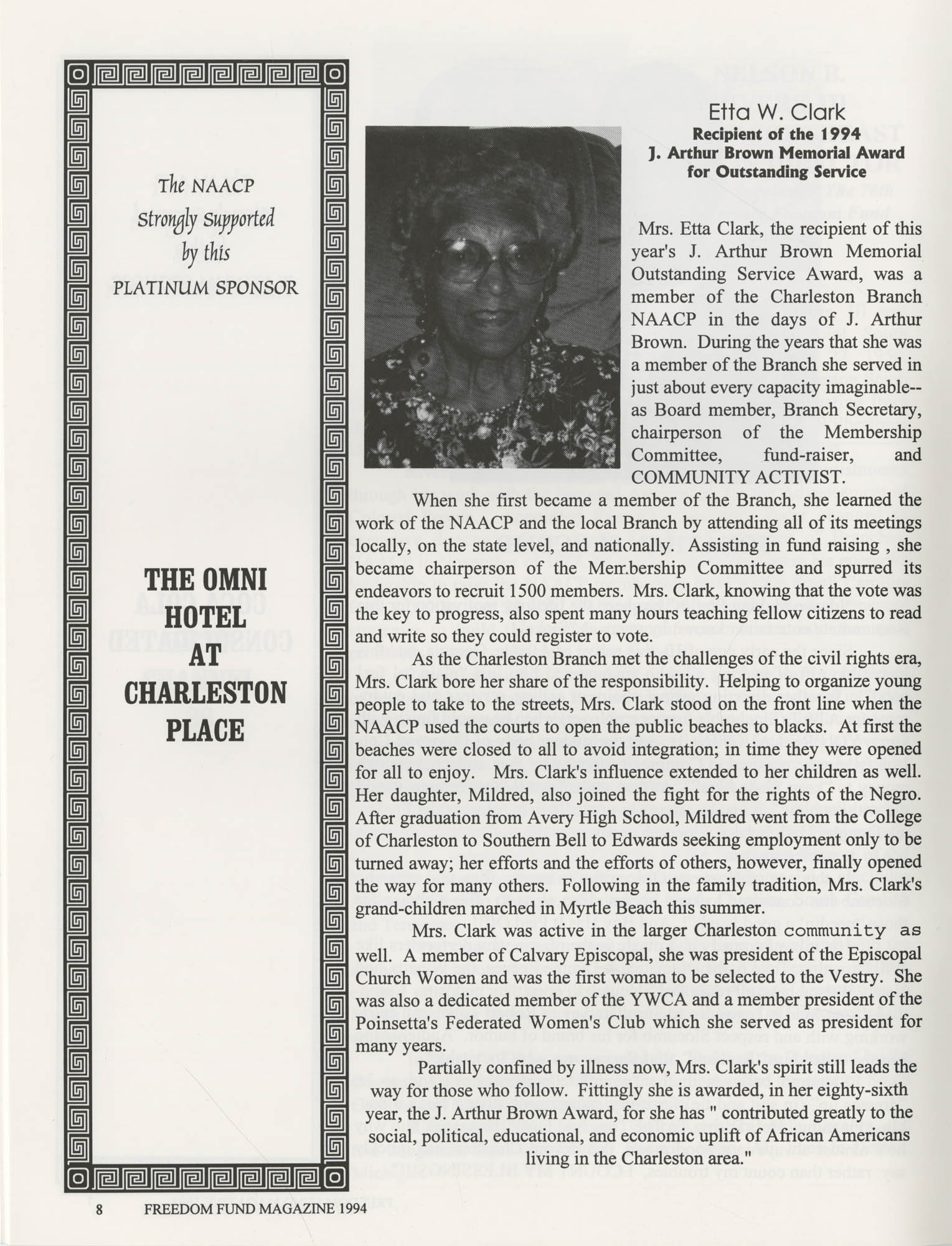 Freedom Fund Magazine, 1994, Page 8