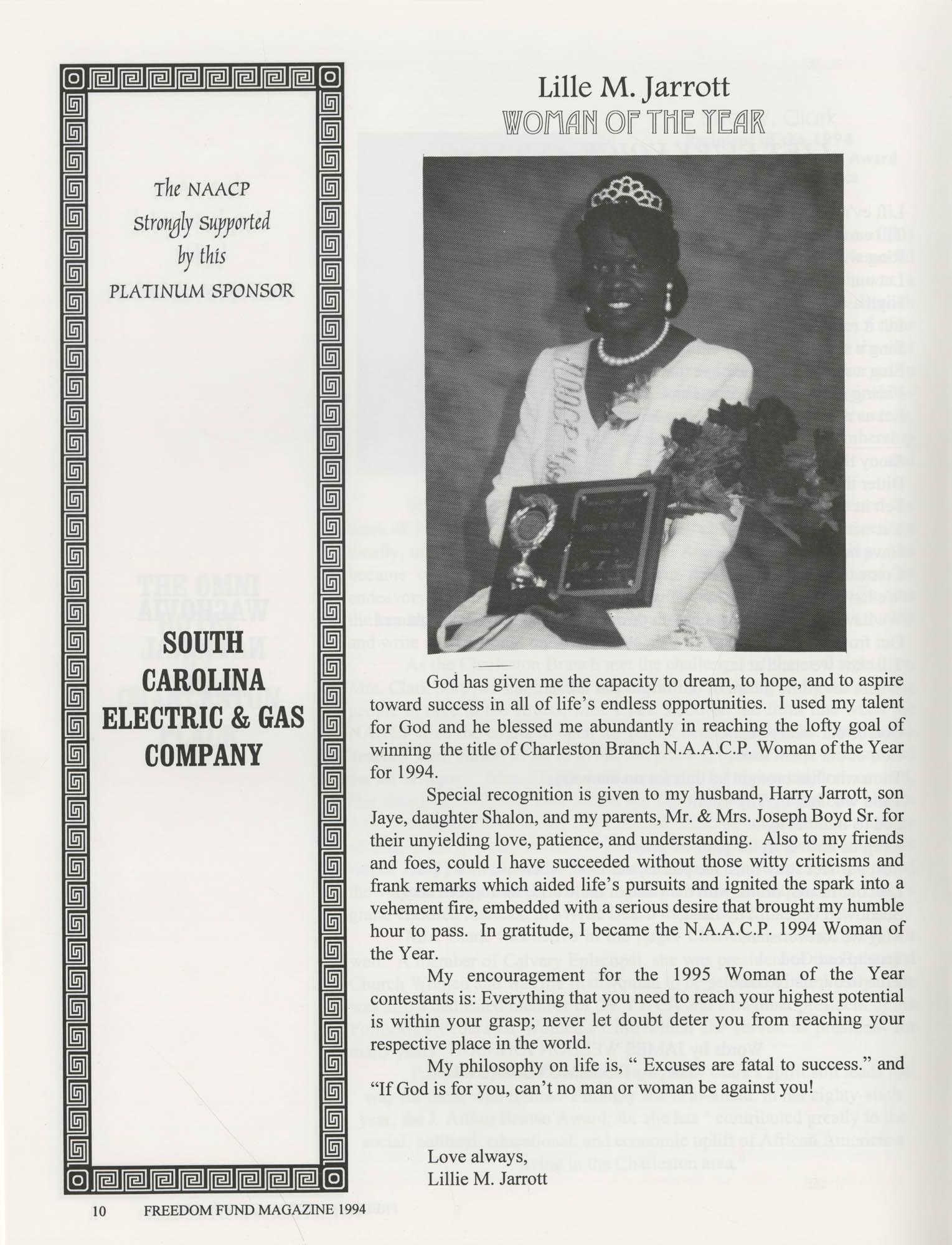 Freedom Fund Magazine, 1994, Page 10