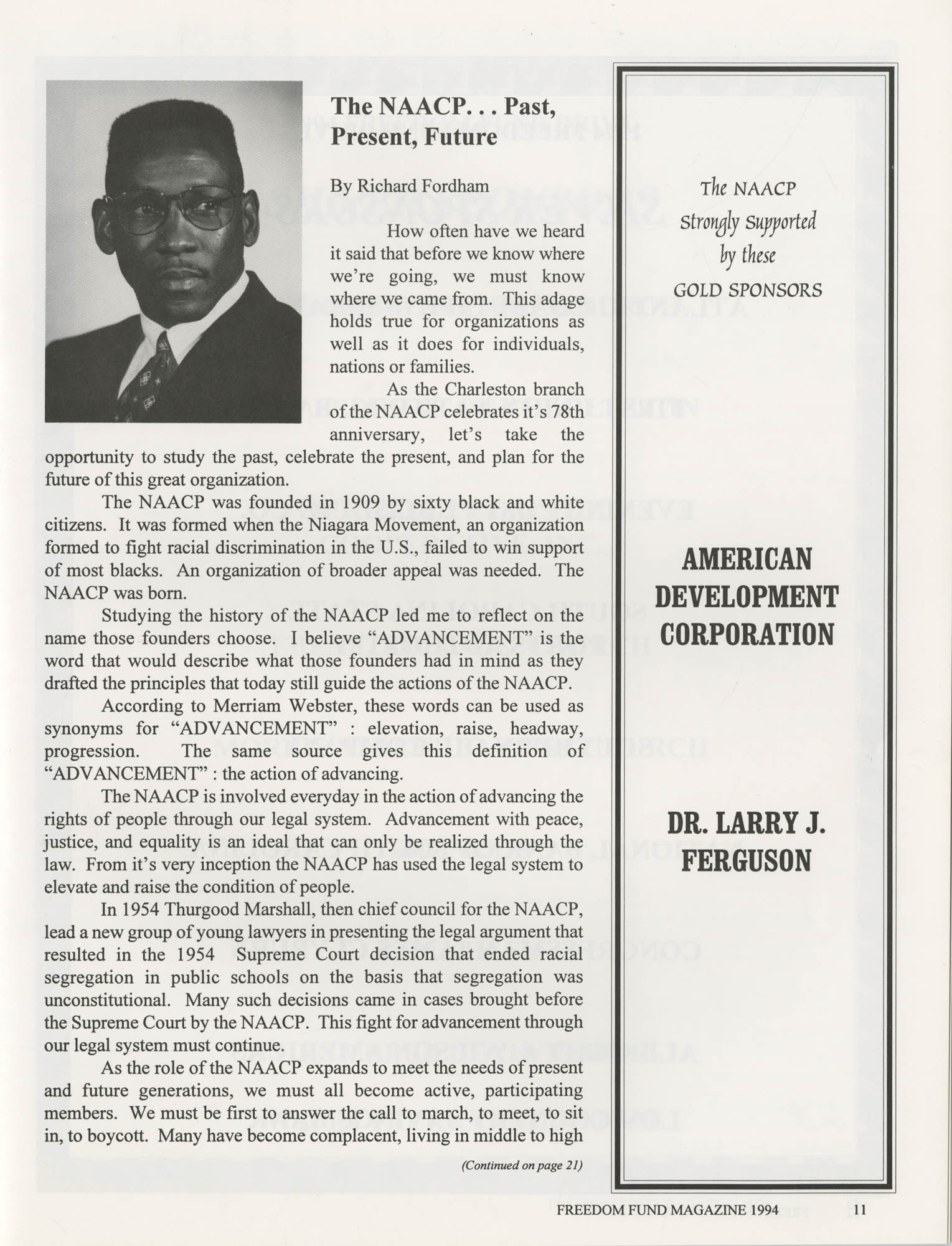Freedom Fund Magazine, 1994, Page 11