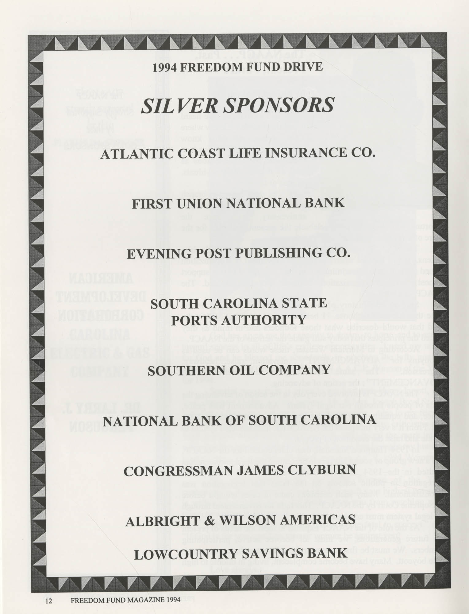 Freedom Fund Magazine, 1994, Page 12