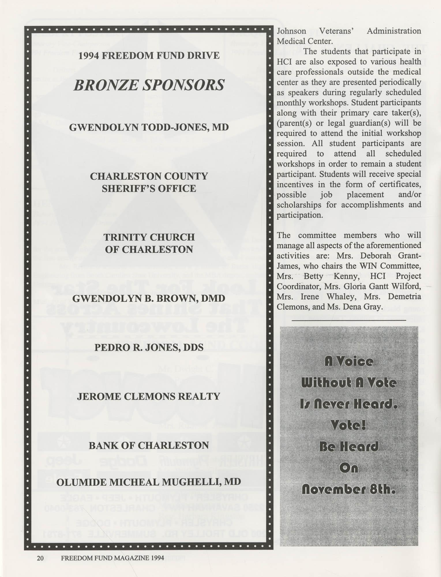Freedom Fund Magazine, 1994, Page 20