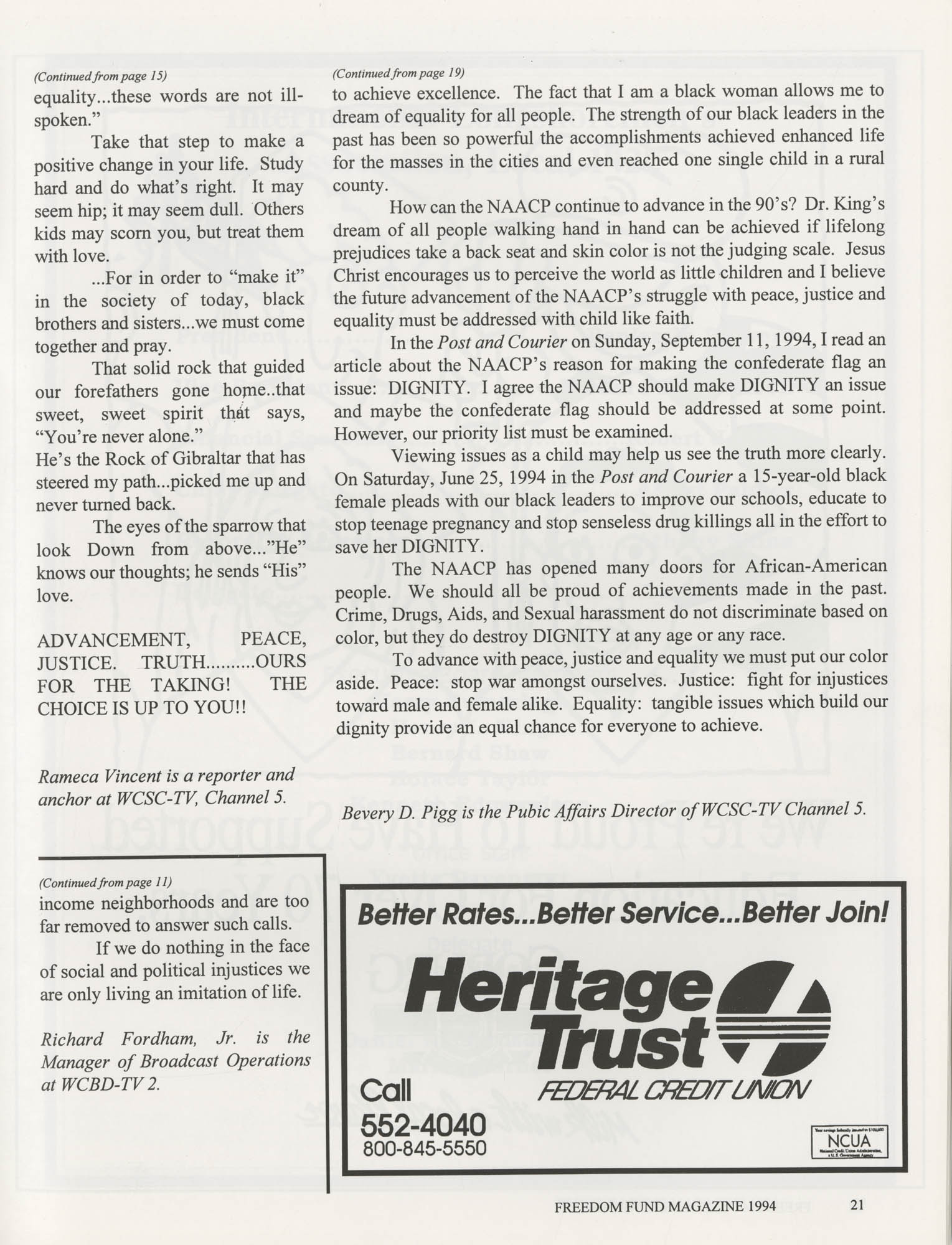 Freedom Fund Magazine, 1994, Page 21