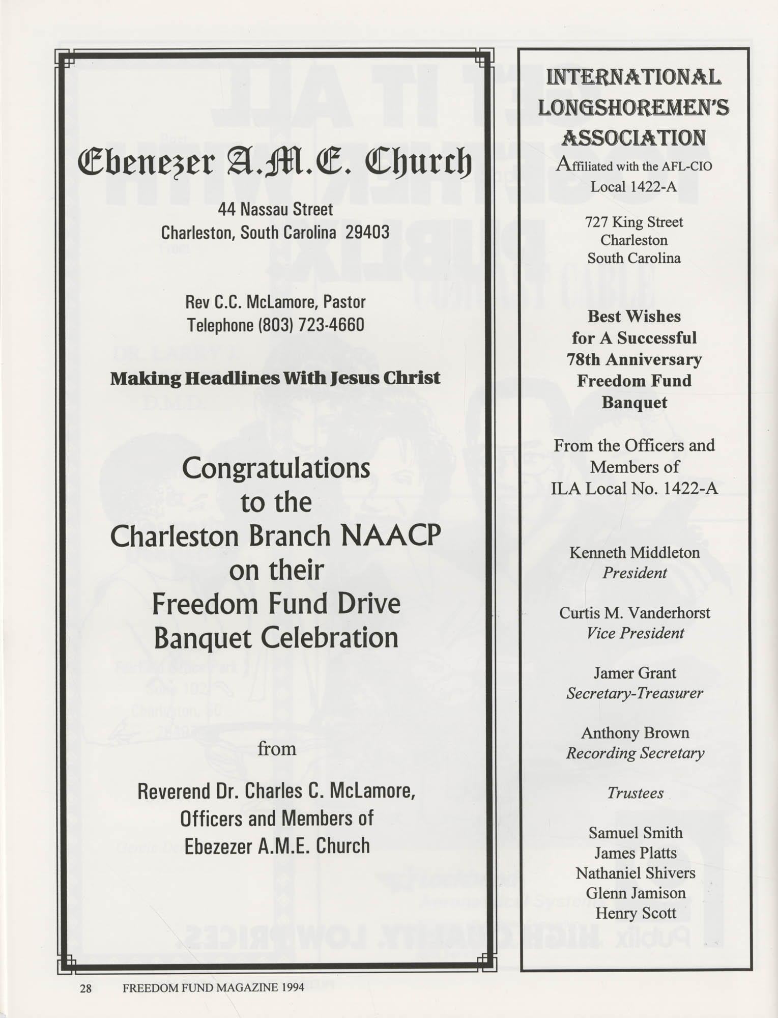 Freedom Fund Magazine, 1994, Page 28