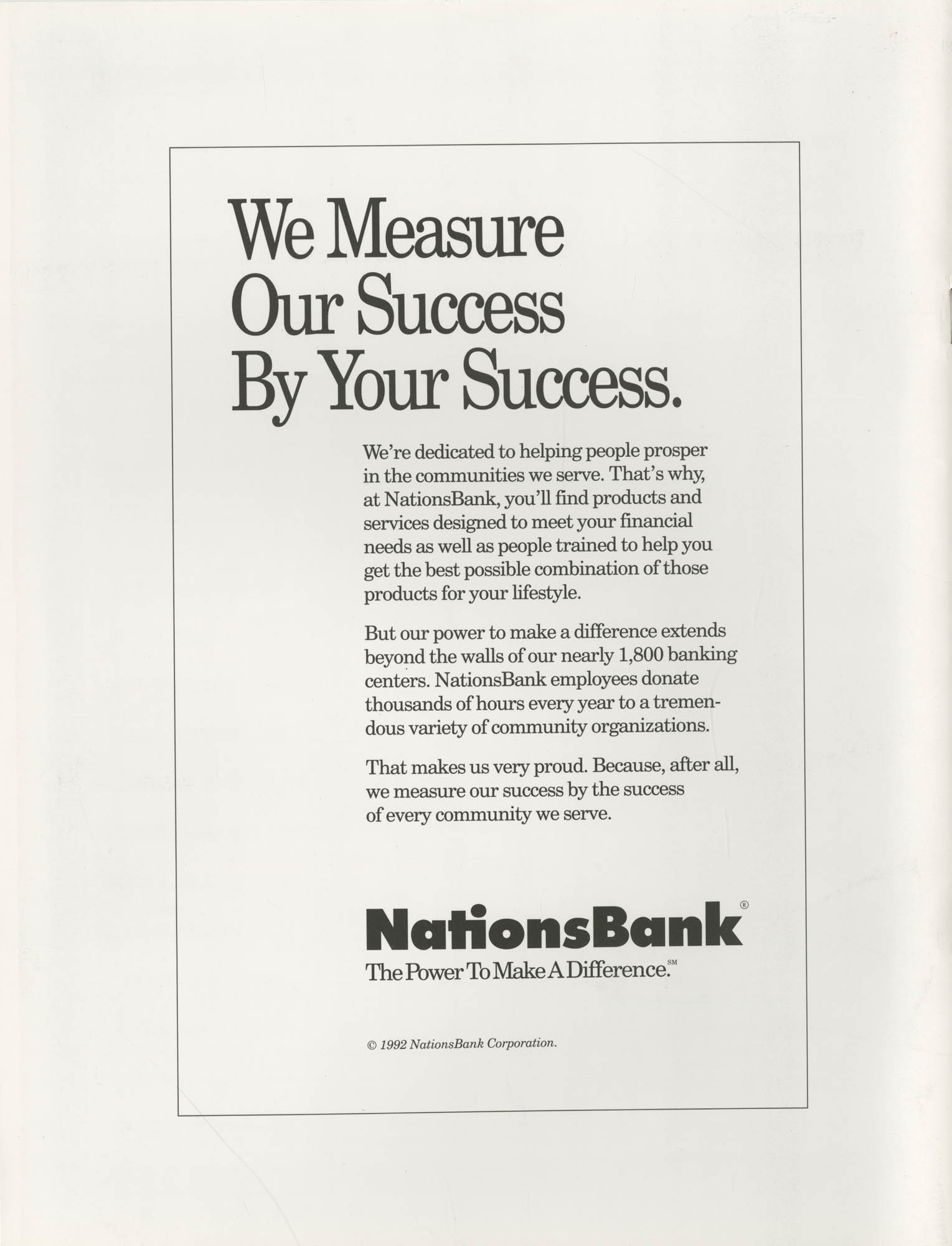 Freedom Fund Magazine, 1994, Back Cover Exterior