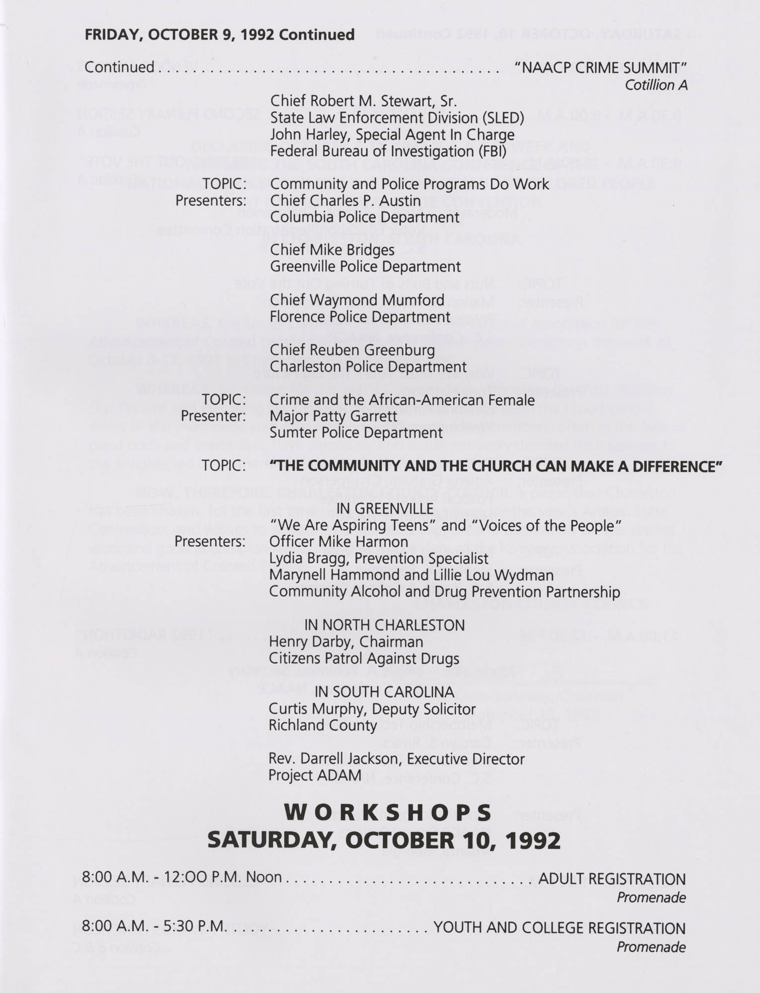 Charleston Branch of the NAACP 51st Annual State Convention Program, Page 7