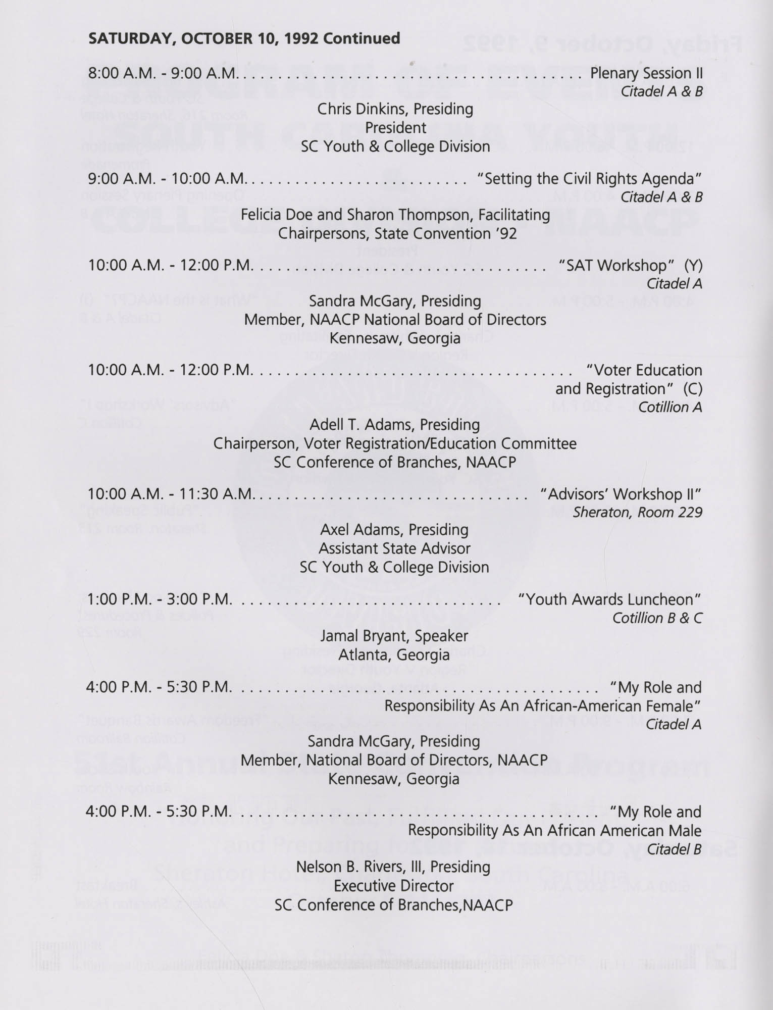Charleston Branch of the NAACP 51st Annual State Convention Program, Page 14