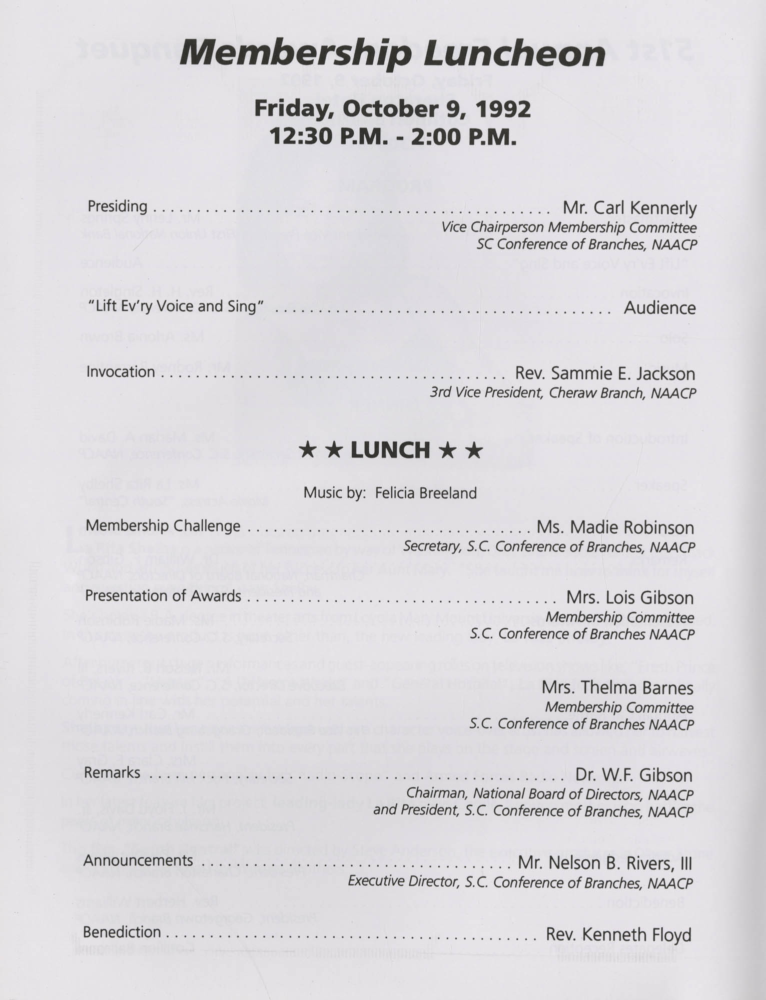 Charleston Branch of the NAACP 51st Annual State Convention Program, Page 20