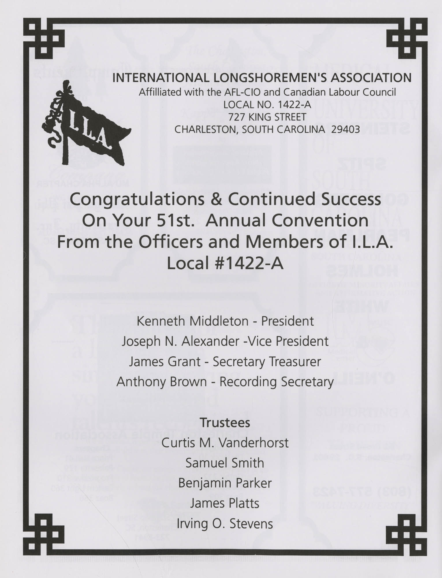 Charleston Branch of the NAACP 51st Annual State Convention Program, Page 28