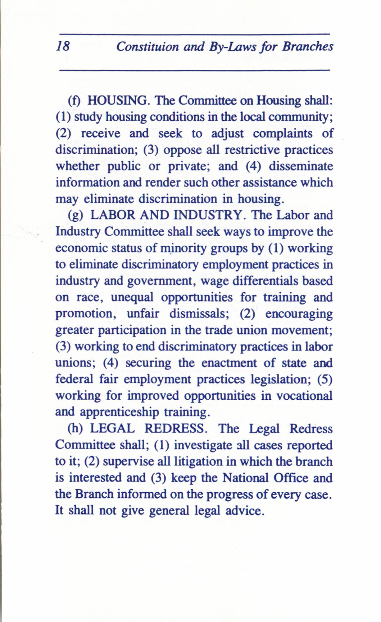 Constitution and By-Laws for Branches of the NAACP, June 1993, Page 18