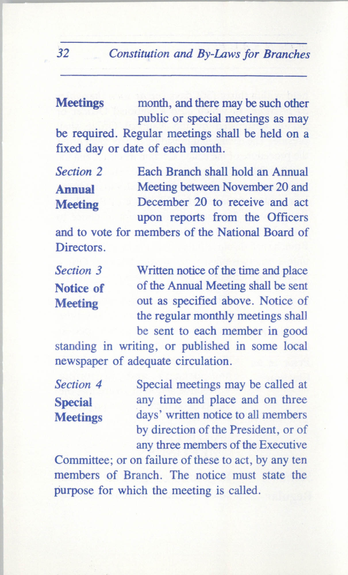 Constitution and By-Laws for Branches of the NAACP, June 1993, Page 32