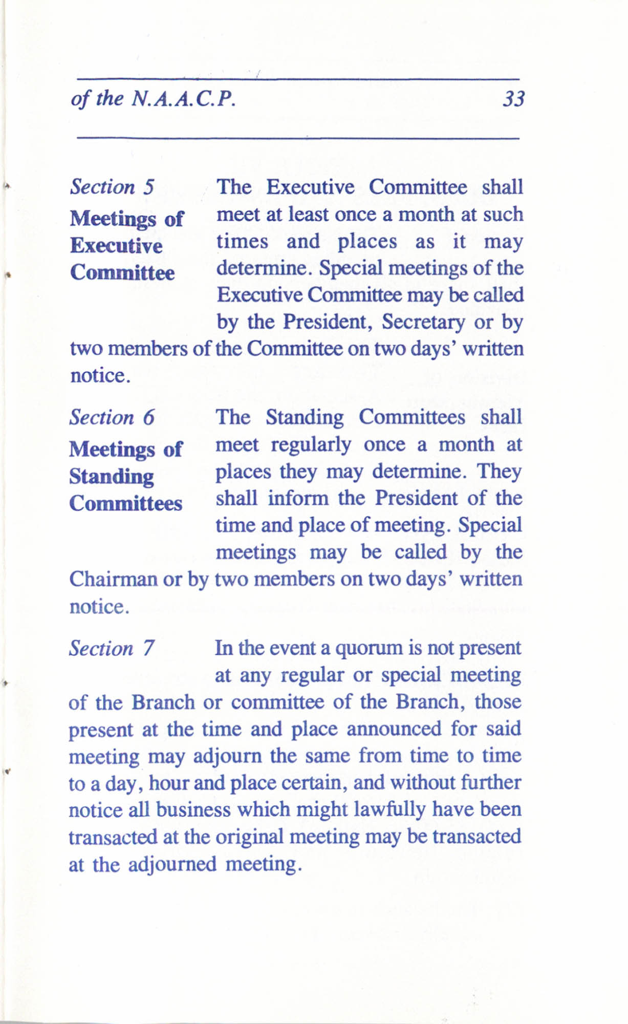 Constitution and By-Laws for Branches of the NAACP, June 1993, Page 33