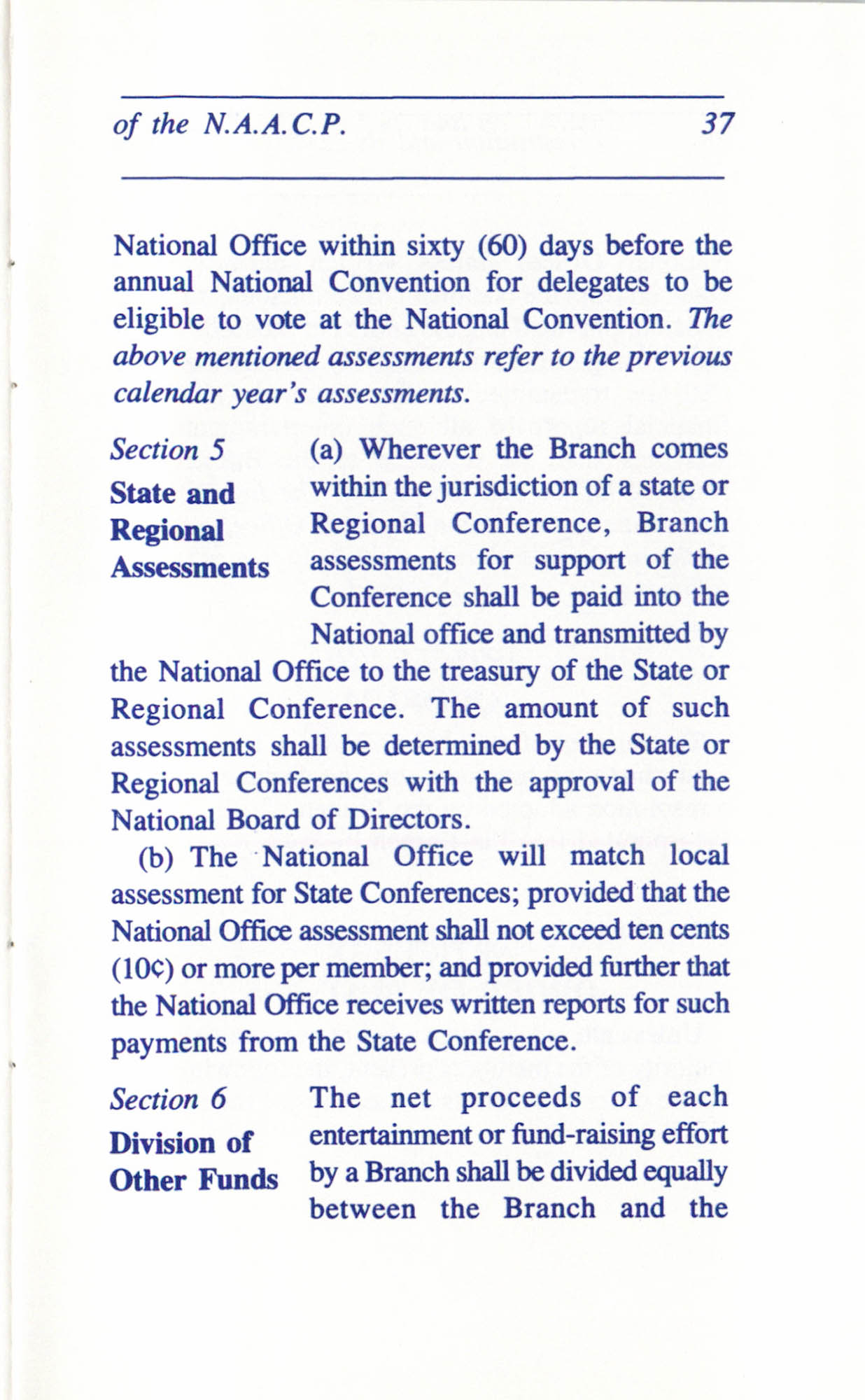Constitution and By-Laws for Branches of the NAACP, June 1993, Page 37