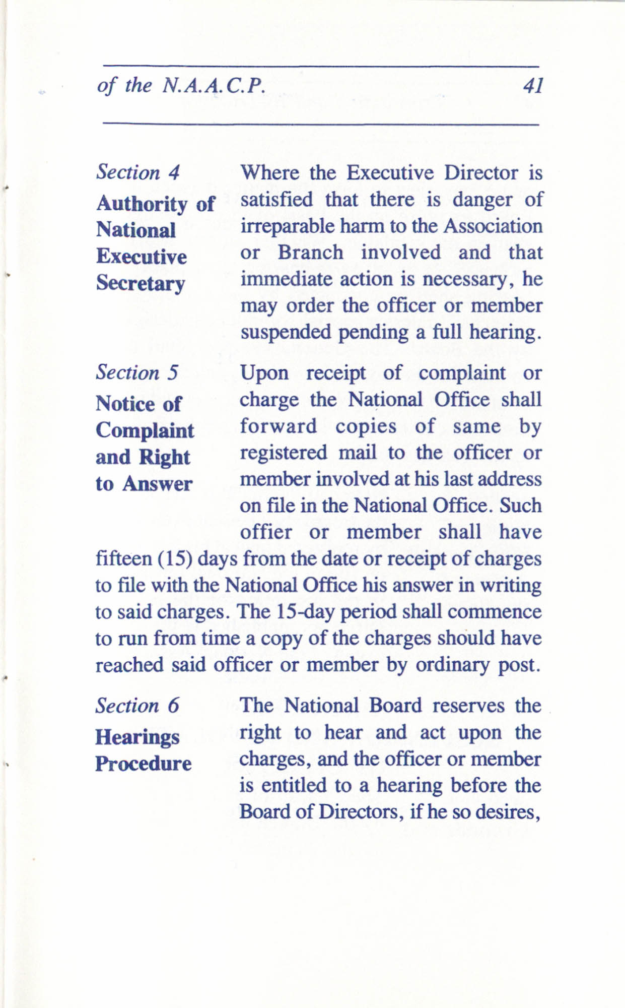 Constitution and By-Laws for Branches of the NAACP, June 1993, Page 41