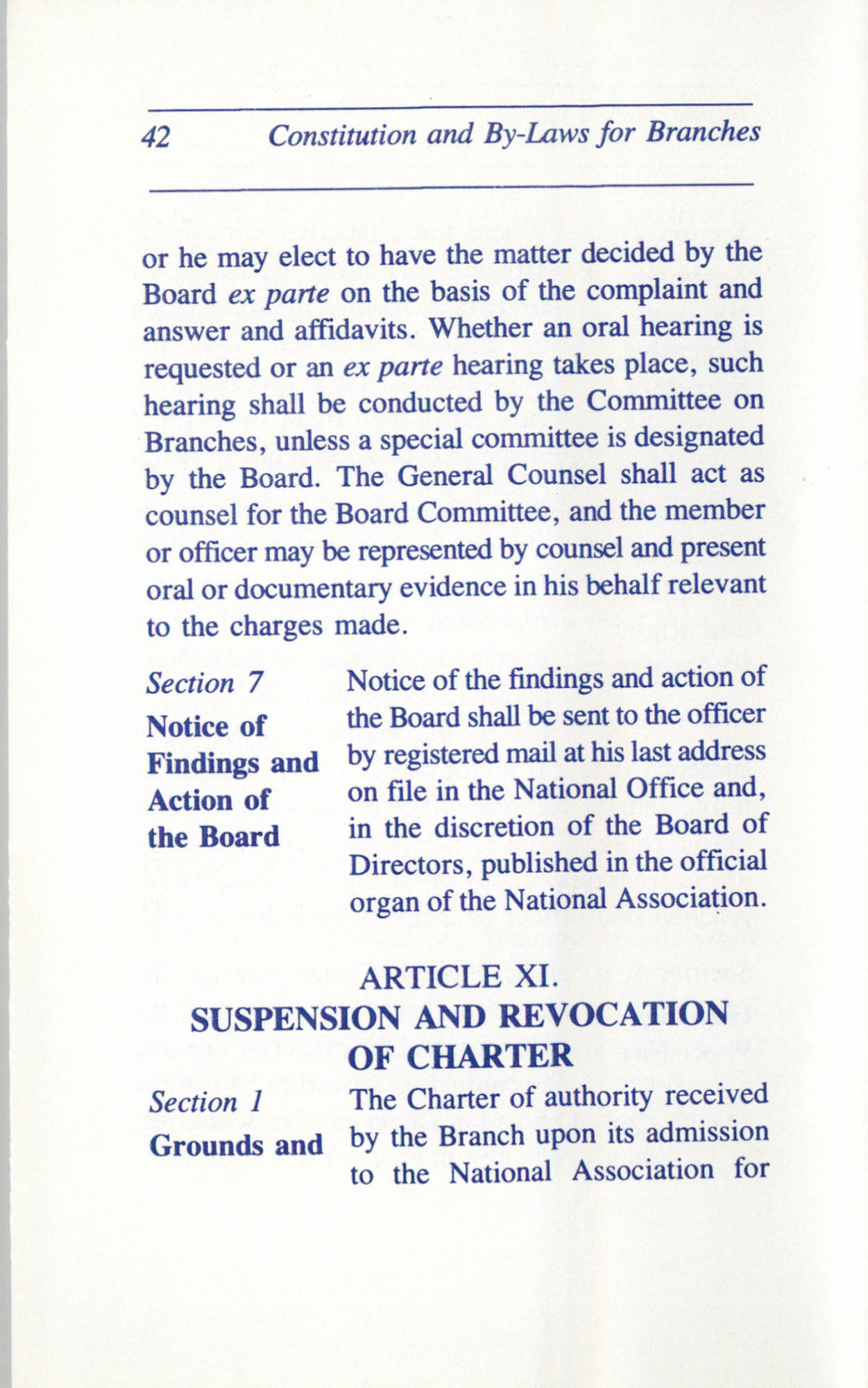 Constitution and By-Laws for Branches of the NAACP, June 1993, Page 42
