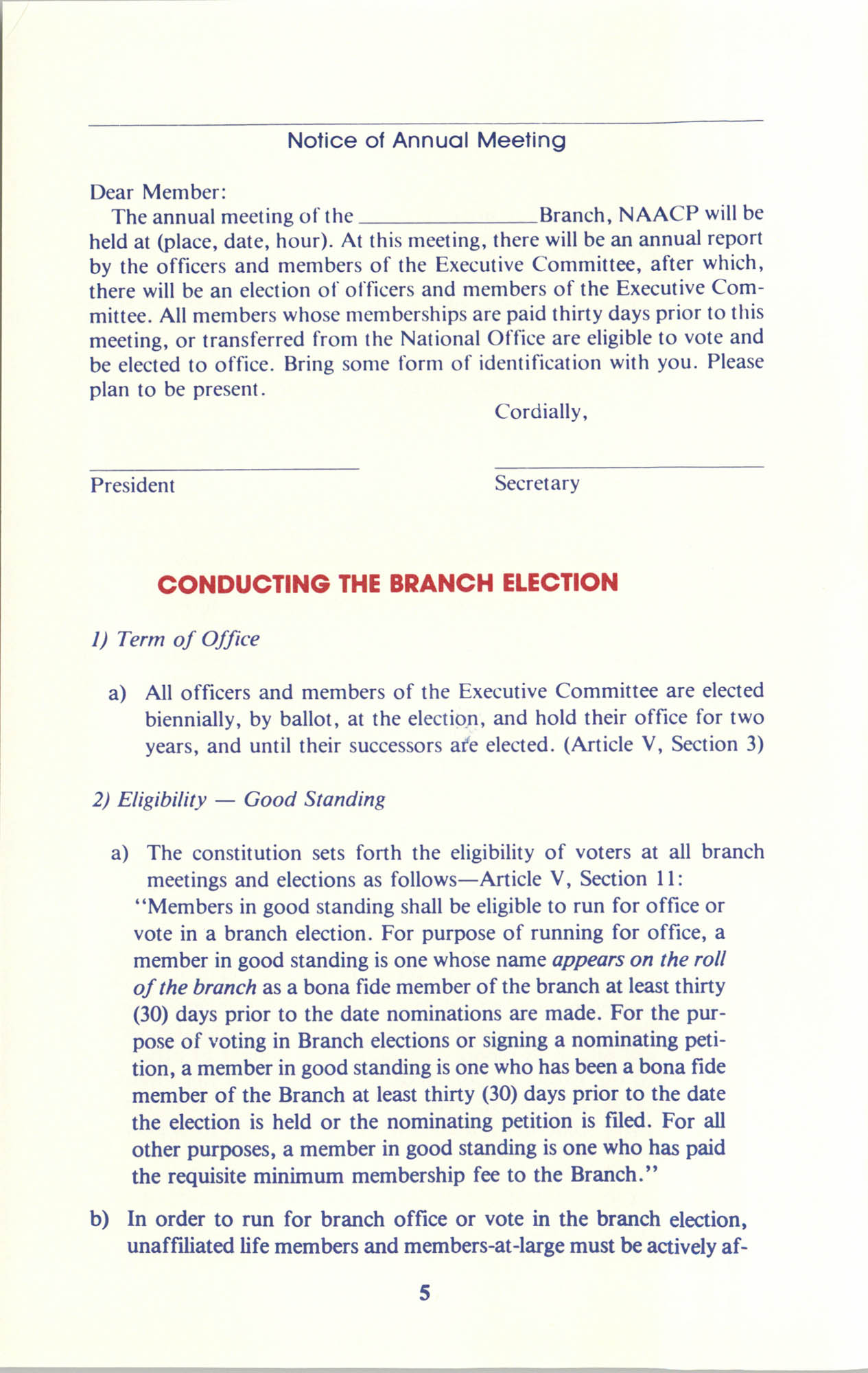 Manual on Branch Election Procedure, Page 5