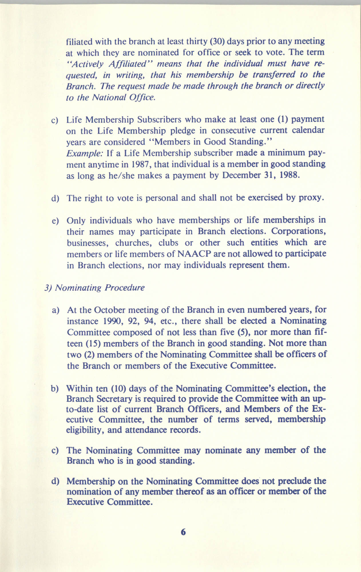 Manual on Branch Election Procedure, Page 6