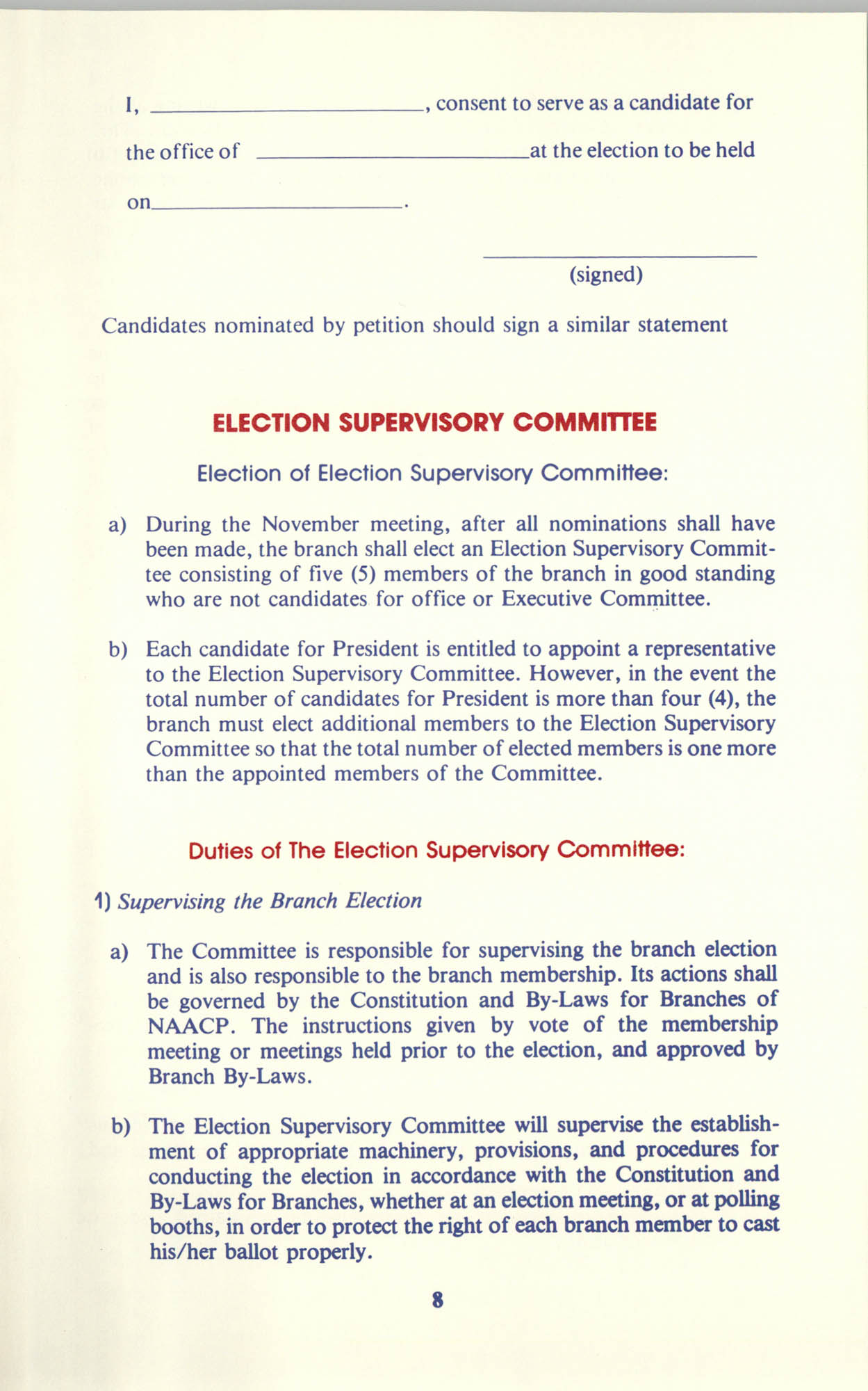 Manual on Branch Election Procedure, Page 8