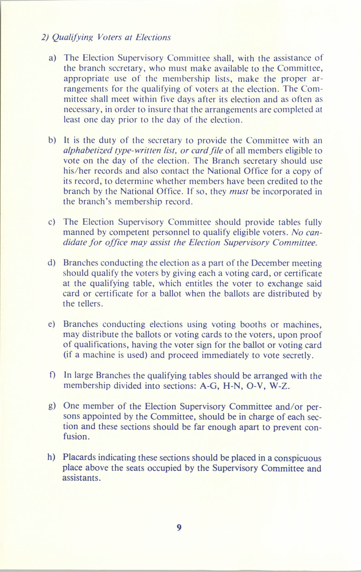 Manual on Branch Election Procedure, Page 9