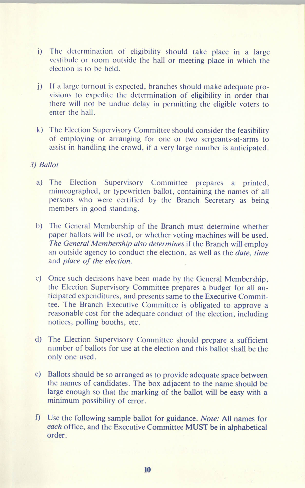 Manual on Branch Election Procedure, Page 10