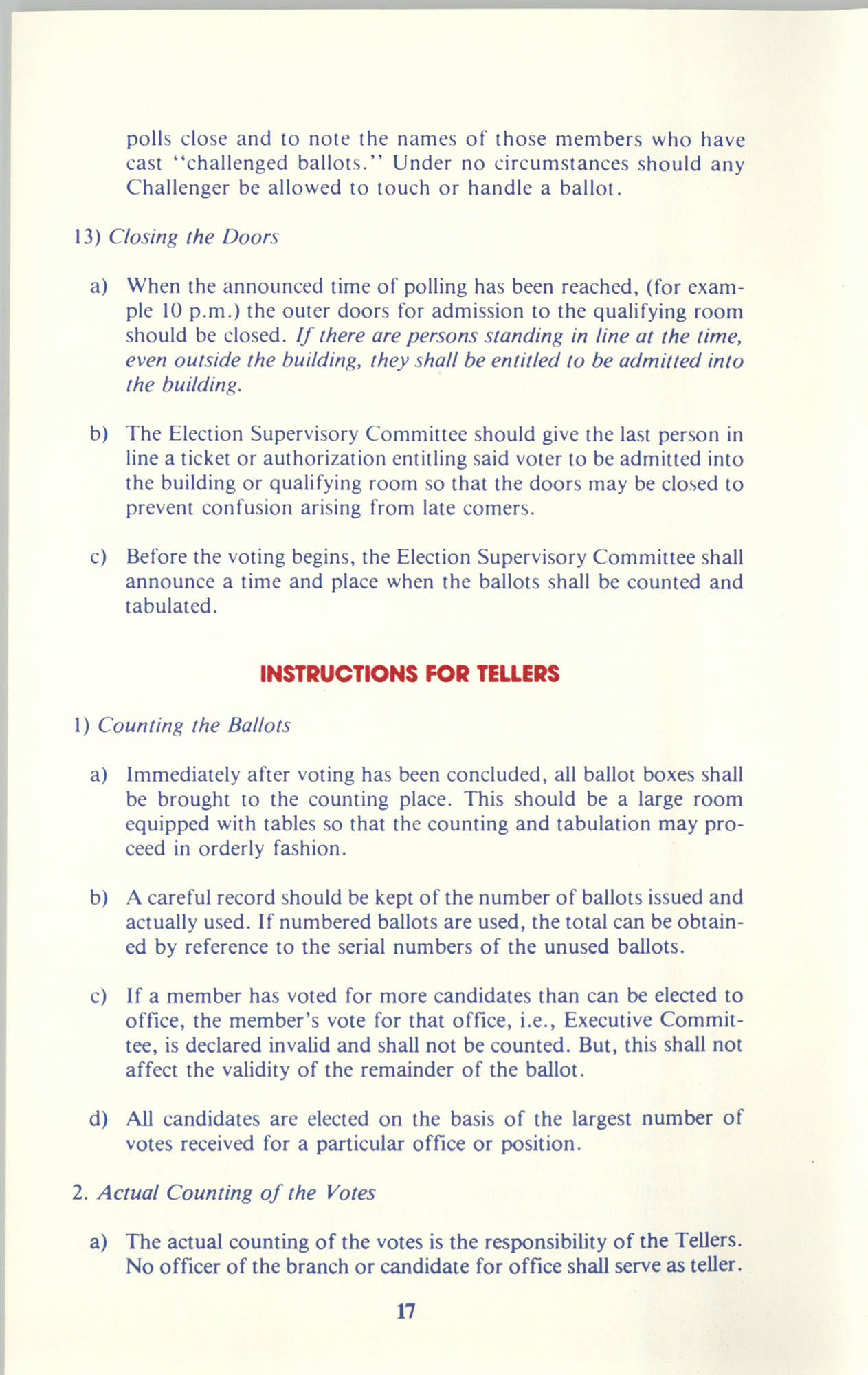 Manual on Branch Election Procedure, Page 17