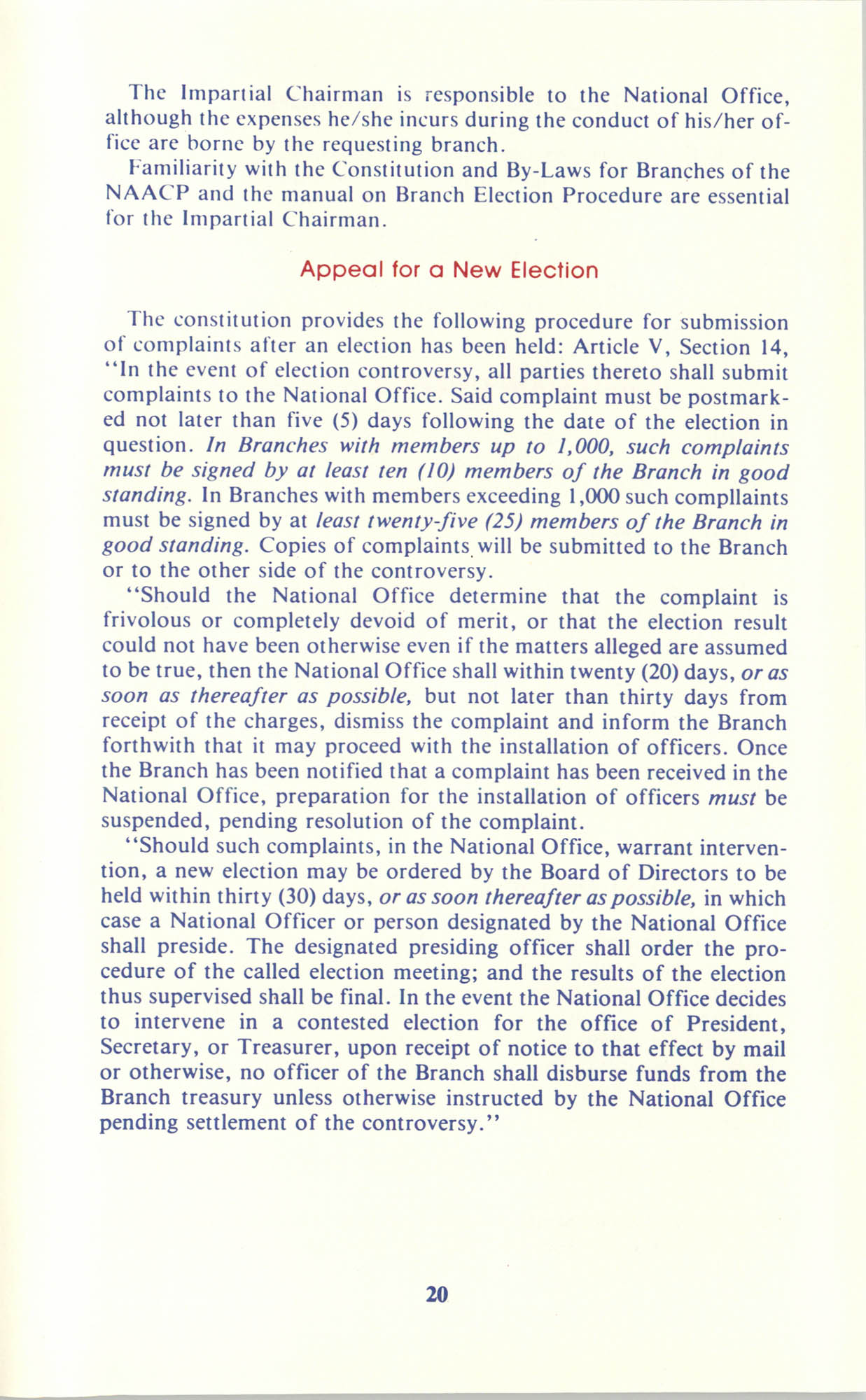 Manual on Branch Election Procedure, Page 20