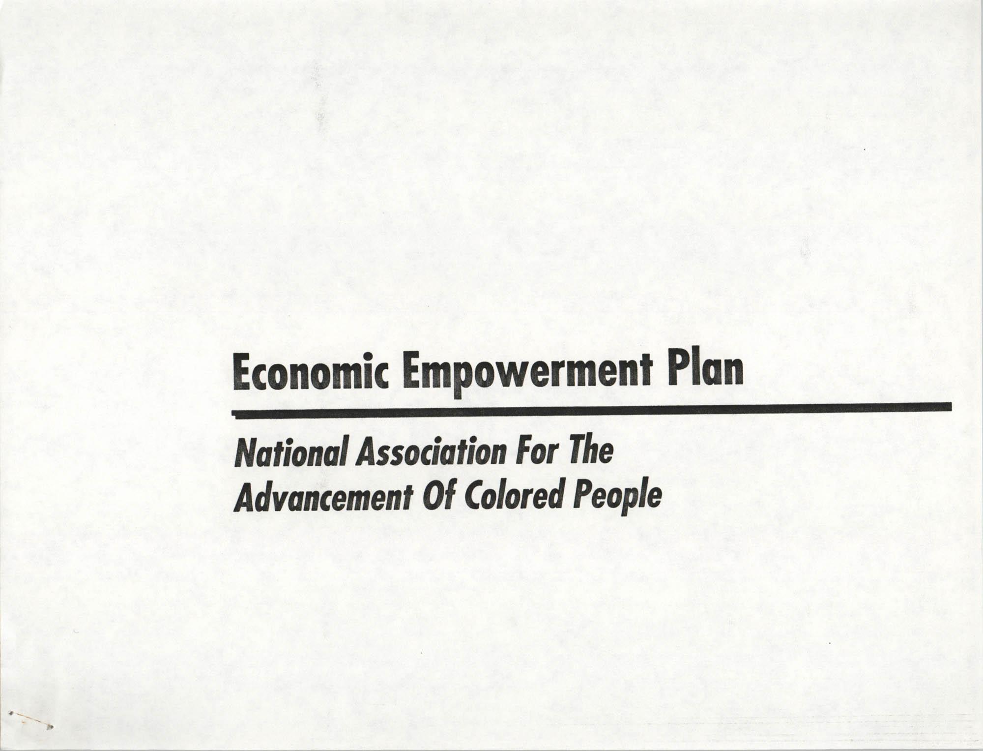 Economic Empowerment Plan, Cover