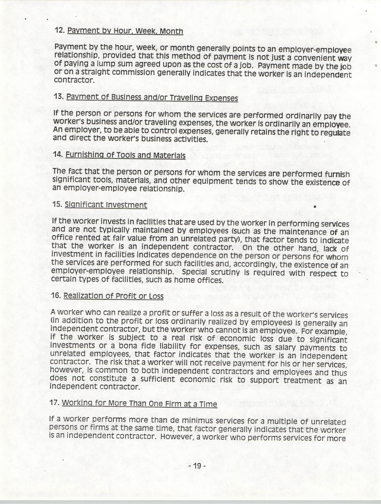 Tax Responsibilities of NAACP Branches as 501(c) (4) Entities, Page 19