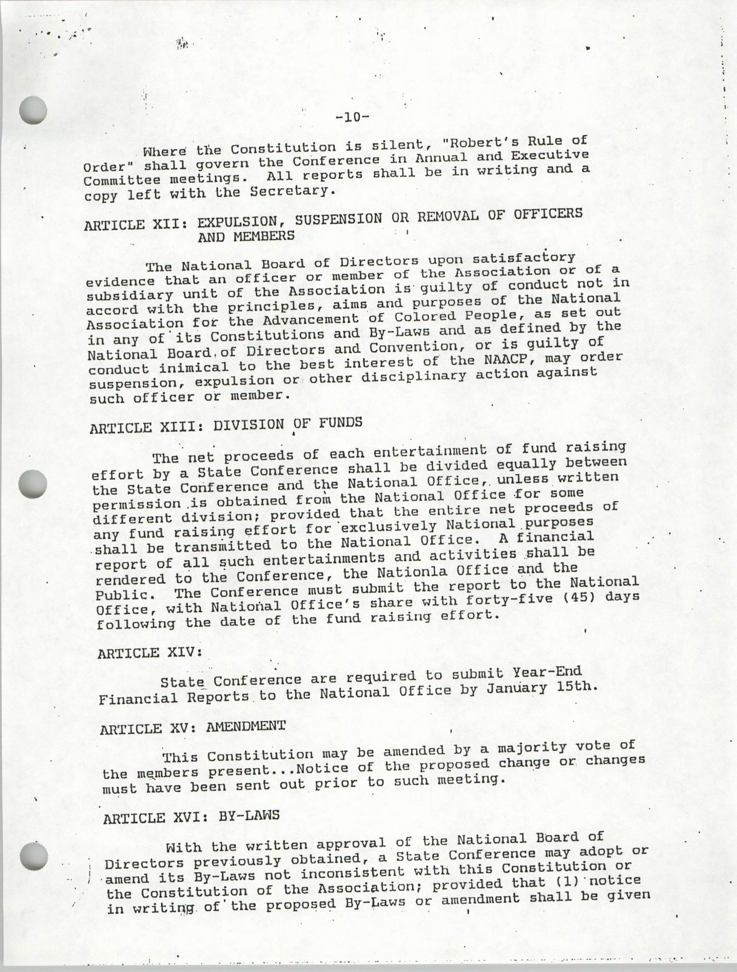 Constitution for State Conferences of the NAAC, Page 10