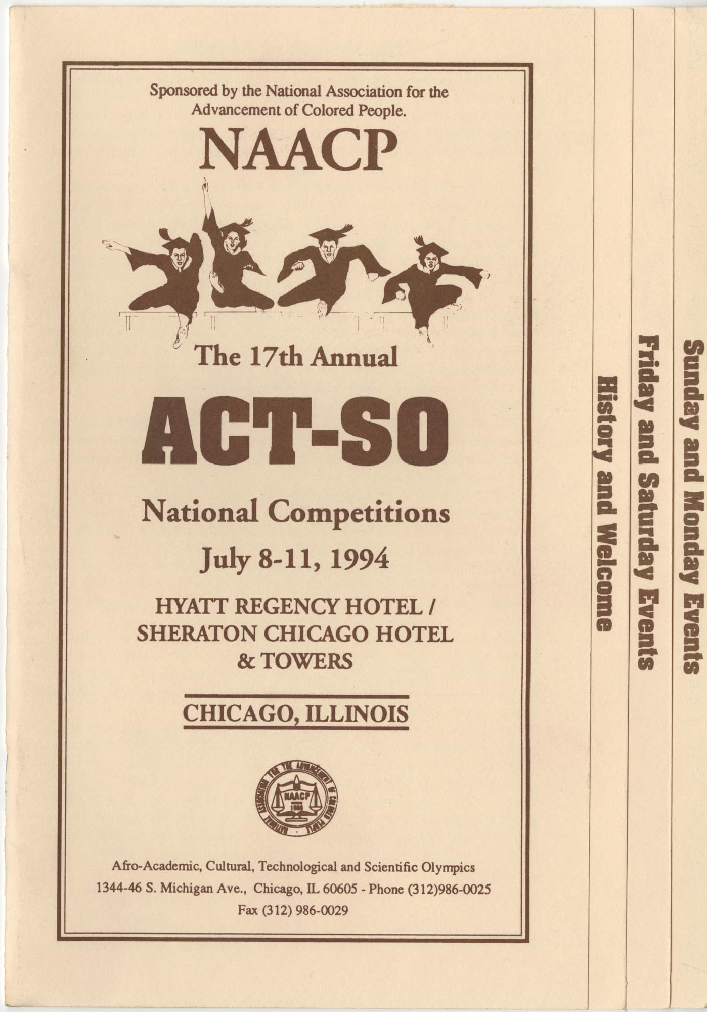 NAACP 17th Annual ACT-SO, July 8-11, 1994, Cover