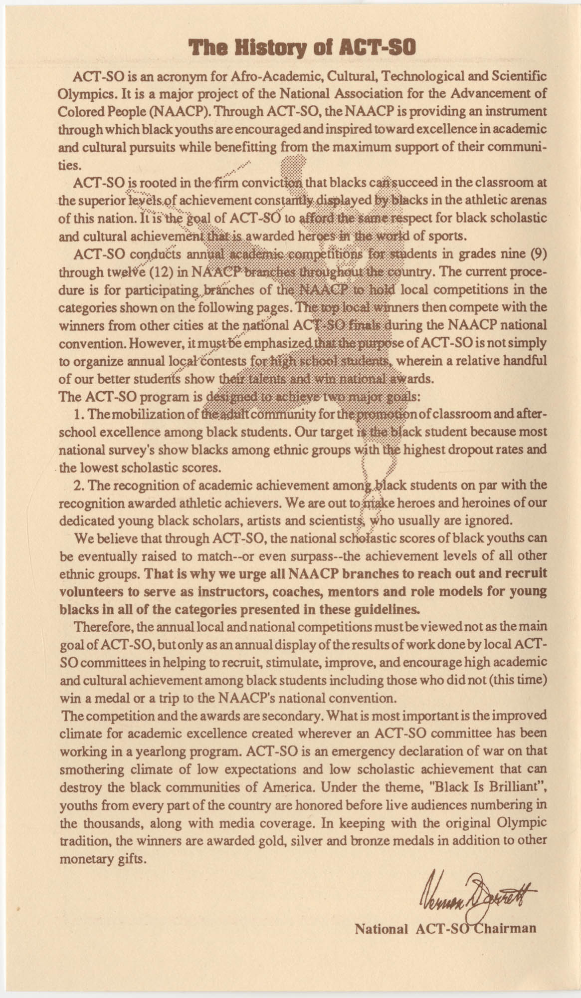 NAACP 17th Annual ACT-SO, July 8-11, 1994, Page 1