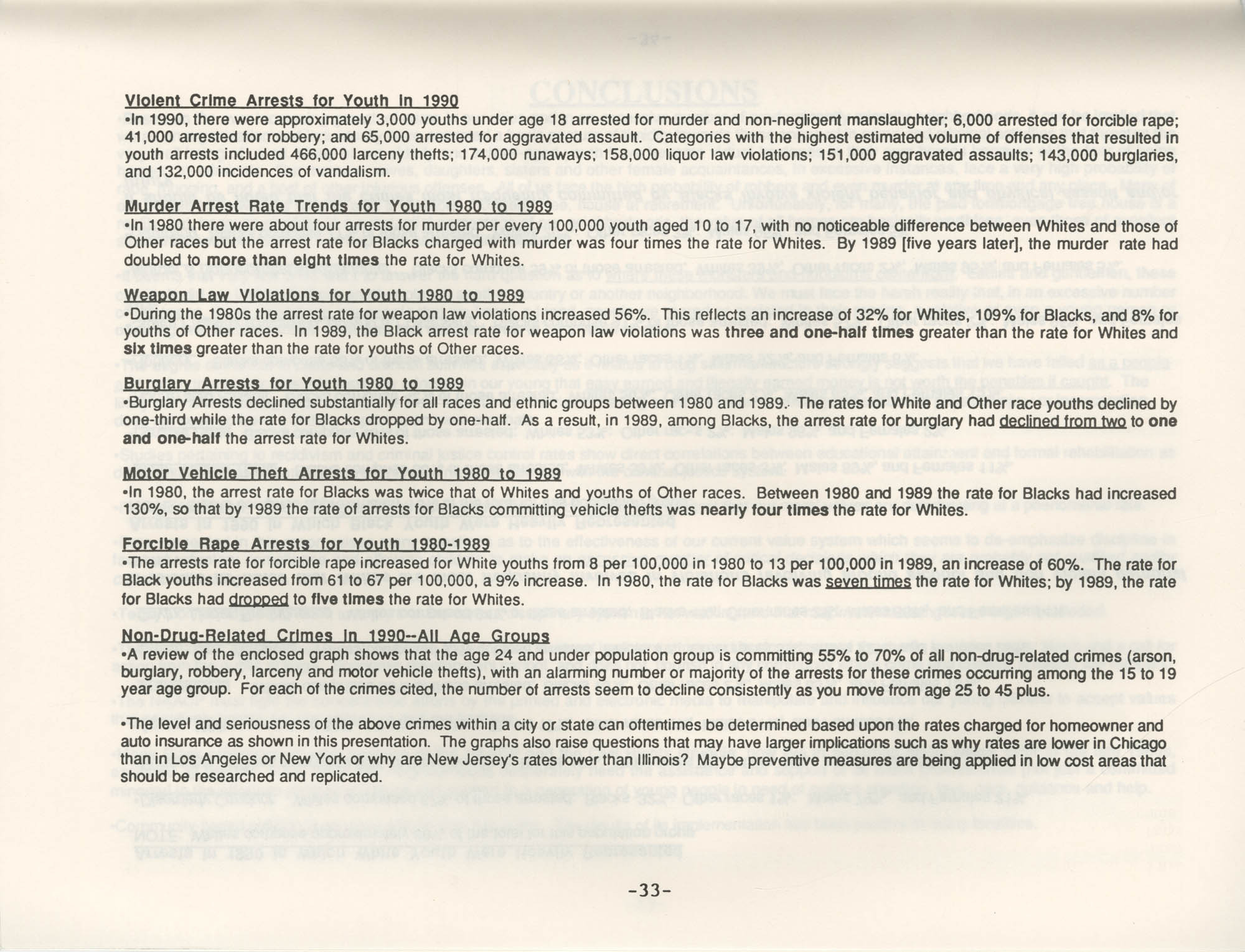 Crime and Criminal Activities in the U.S.A., NAACP National Board of Directors, Page 33