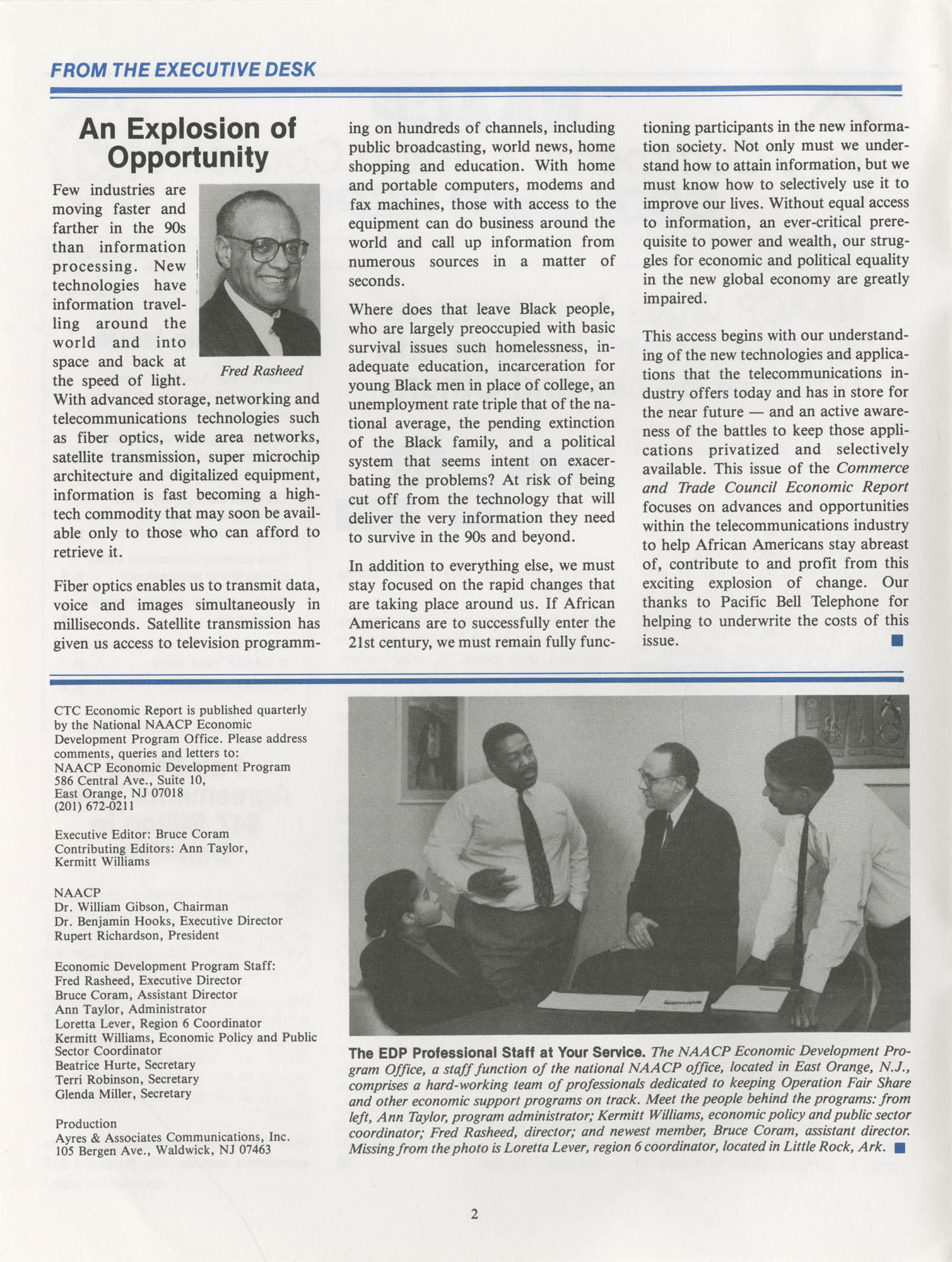 NAACP Commerce and Trade Council Economic Report, Vol. 1, No. 2, Spring 1992, Page 2
