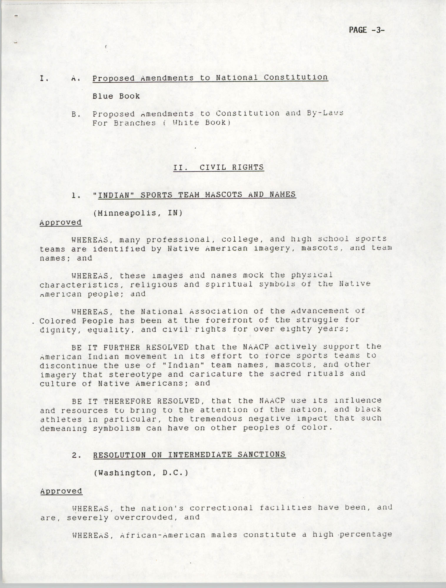 Resolutions Submitted Under Article X, Section 2 of the Constitution of the NAACP, 1992, Page 3