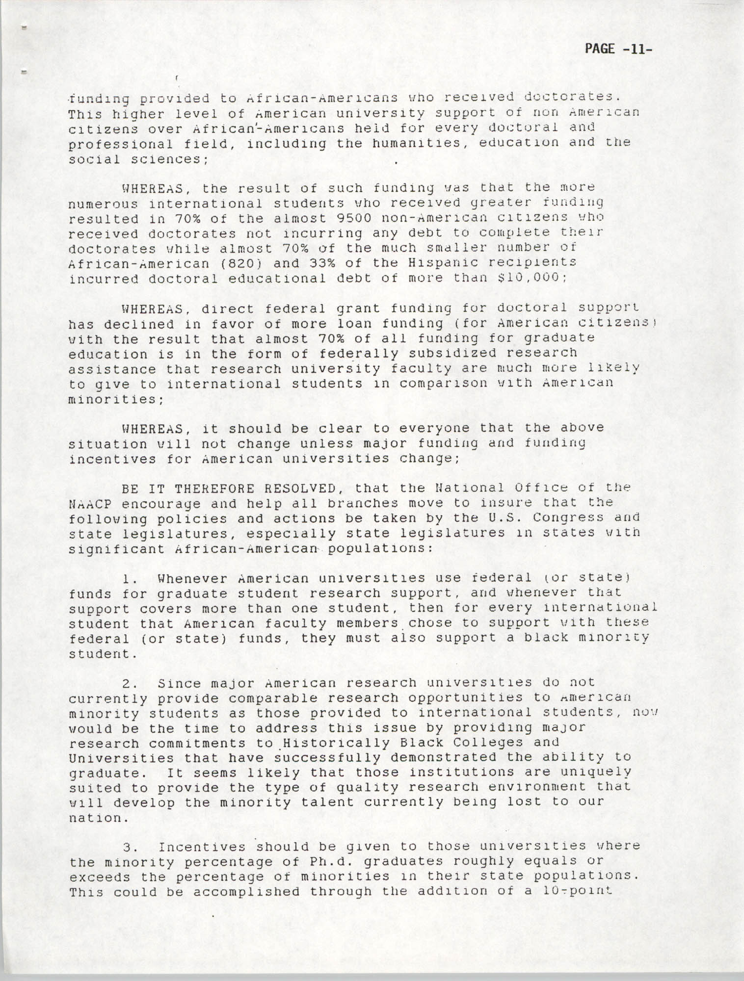 Resolutions Submitted Under Article X, Section 2 of the Constitution of the NAACP, 1992, Page 11